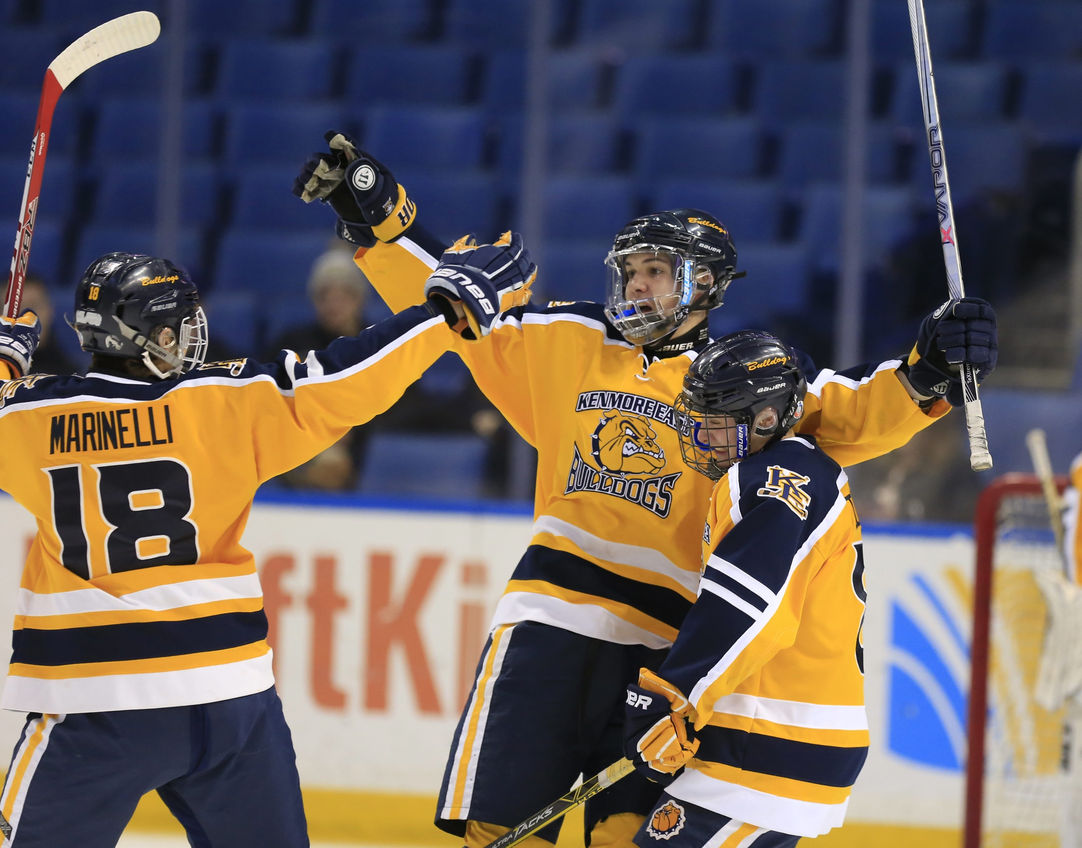 Kenmore East Trevor Pray scored all five of the Bulldogs' goals in a 5-2 win.