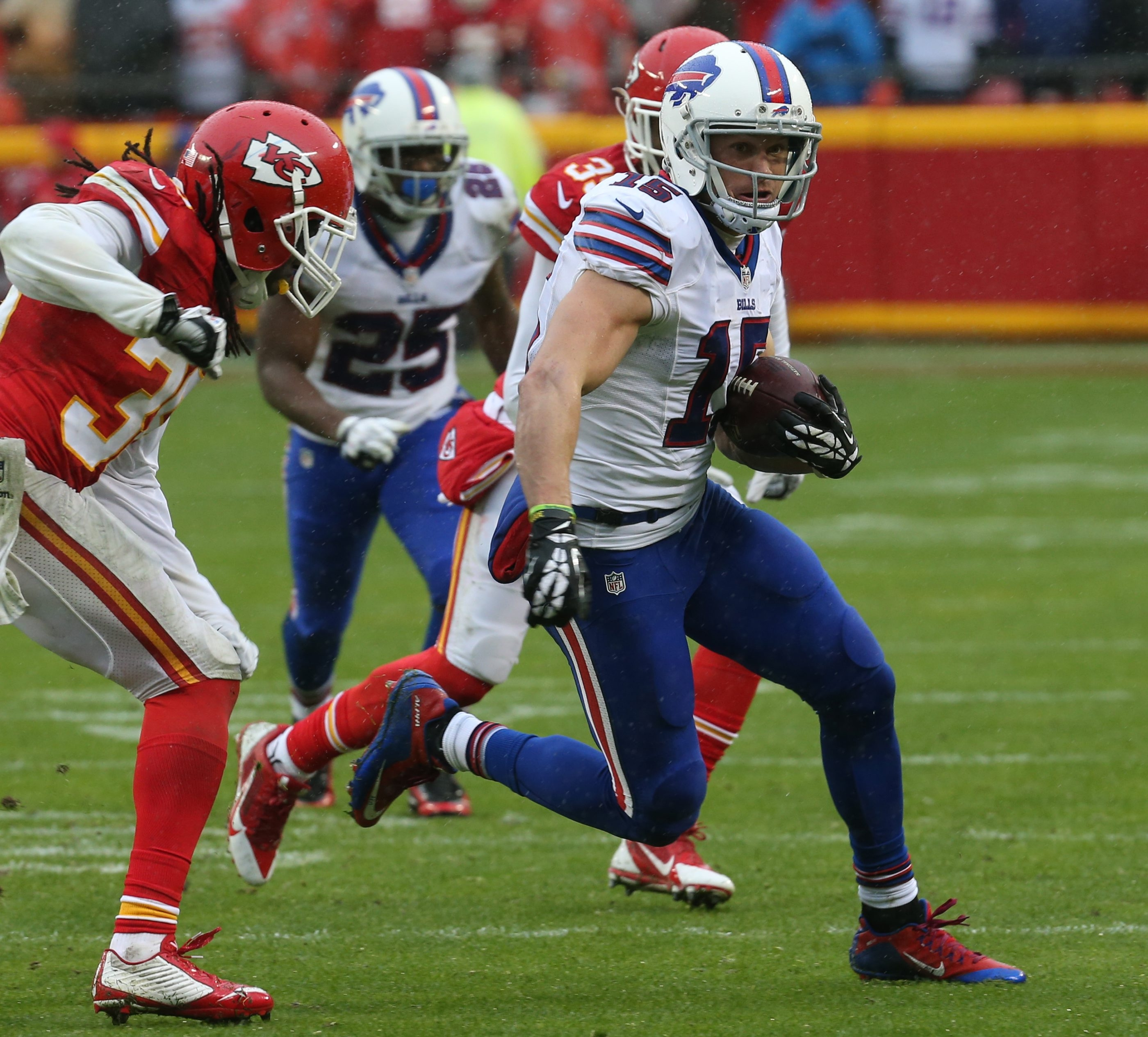 Wide receiver Chris Hogan had 77 catches for 876 yards and six touchdowns over the past two seasons with the Bills.