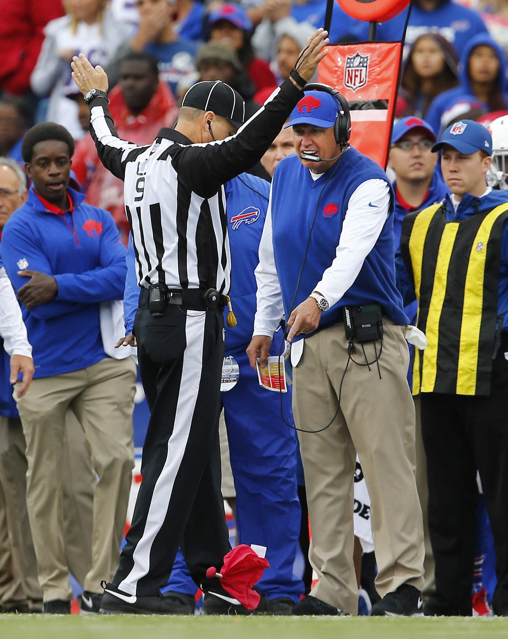 Rex Ryan wants NFL coaches to be able to throw the challenge flag on every call in a game.