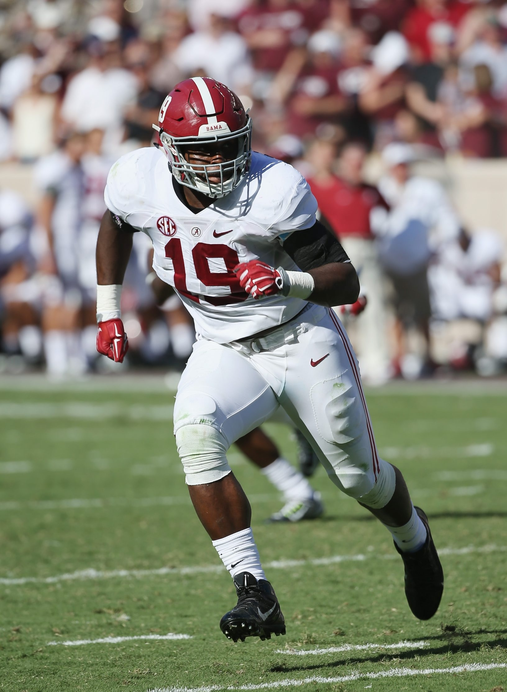 Reggie Ragland, a linebacker with the Alabama Crimson Tide is projected to be selected in the first round of the NFL Draft.