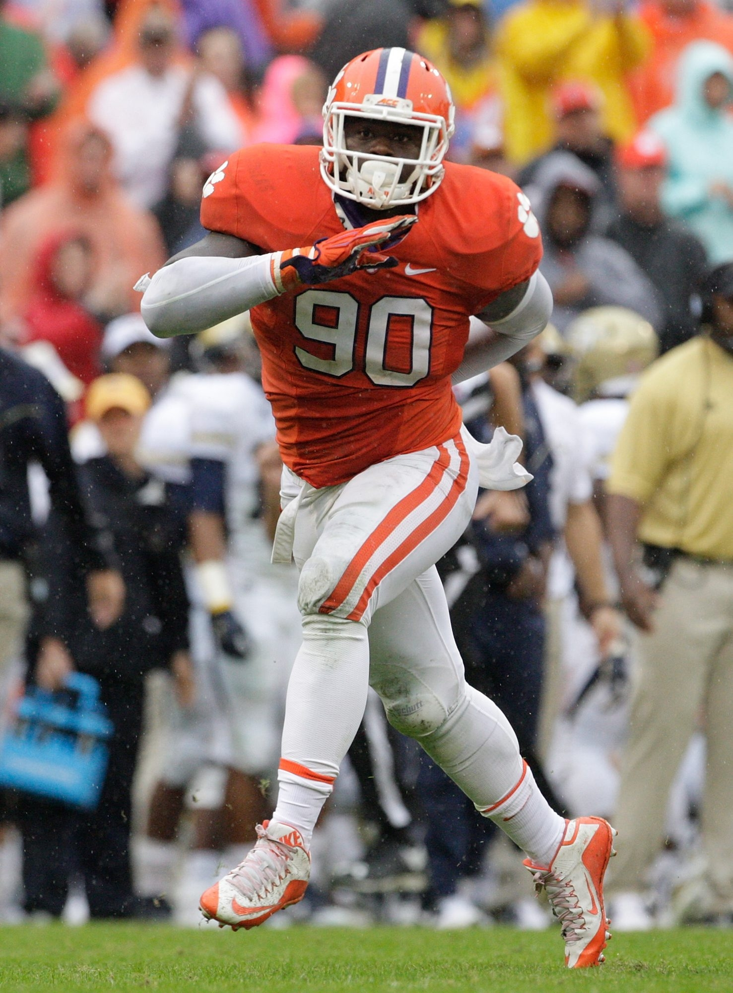 Clemson defensive end Shaq Lawson shot up the draft board this season. (Getty Images)