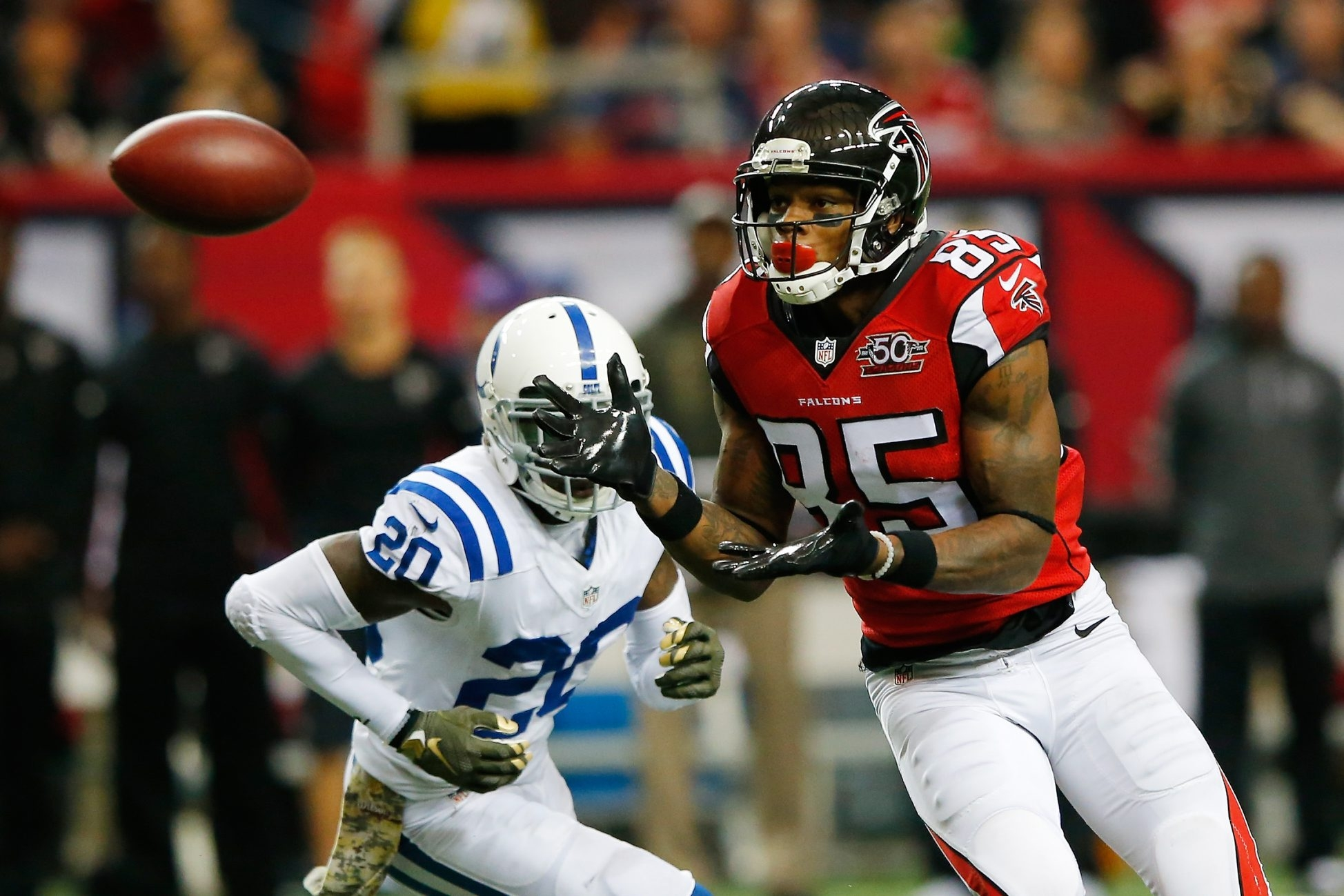 Leonard Hankerson has struggled with drops in the pros but has nine NFL touchdowns to his credit.