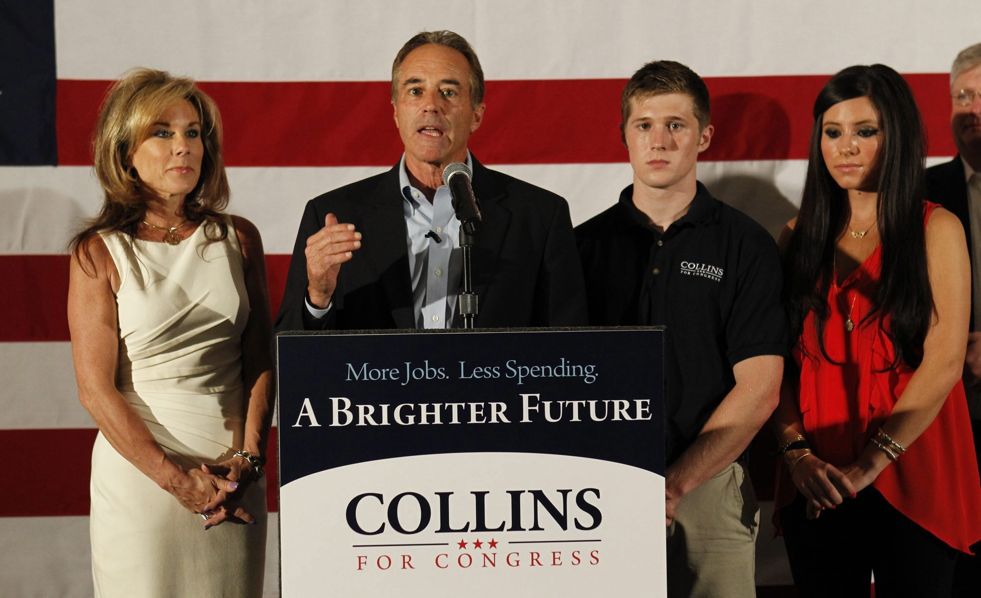 Rep. Chris Collins, R-Clarence, bucks wave of controversies in- volving Donald Trump to take leadership role in committee of House members supporting him.