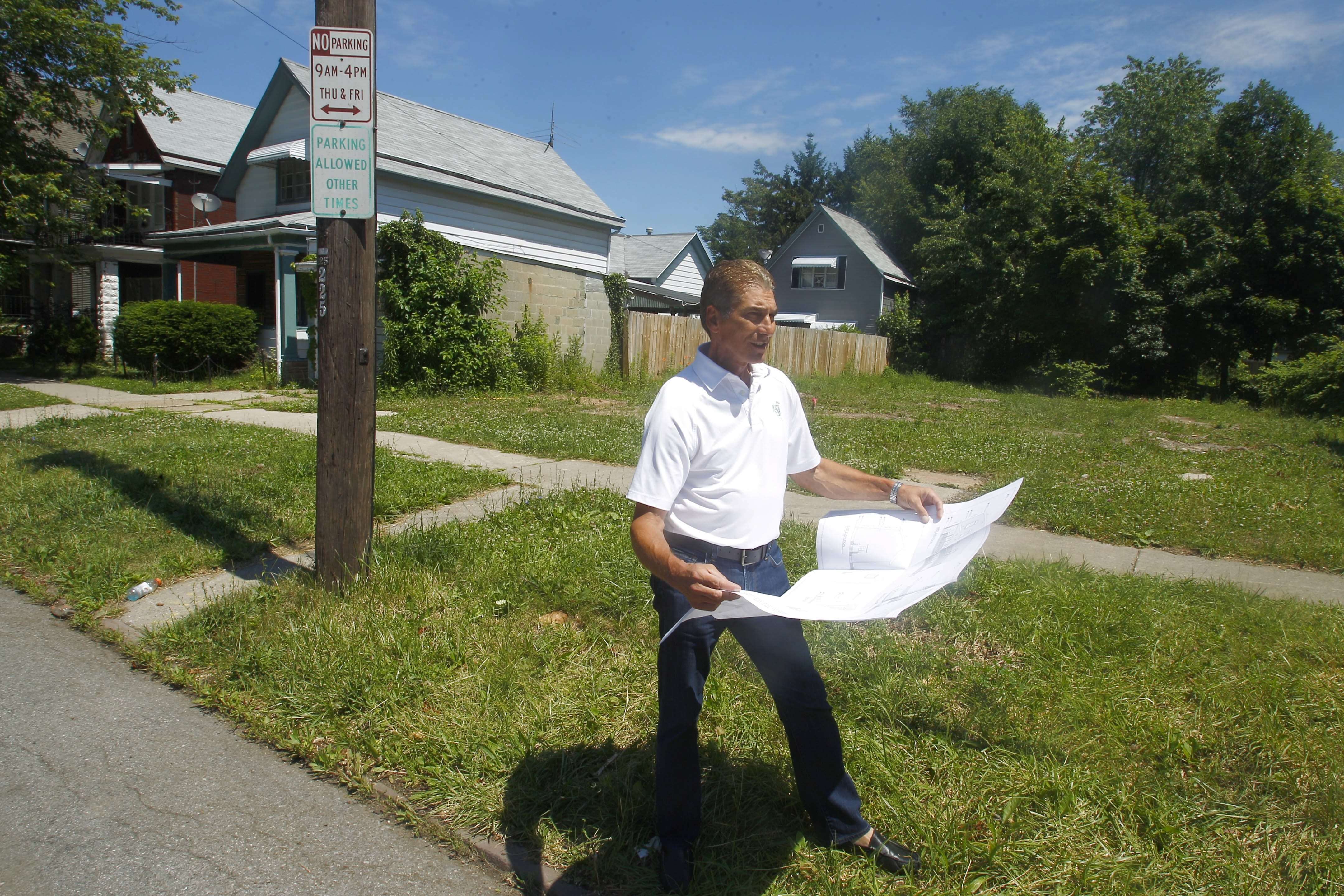 Former Erie County Executive Joel Giambra has plans for housing on Prospect and Fargo avenues.