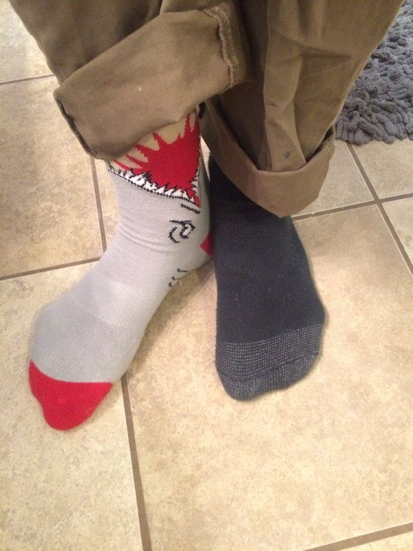 The accent sock trend is popular at Lancaster High School.