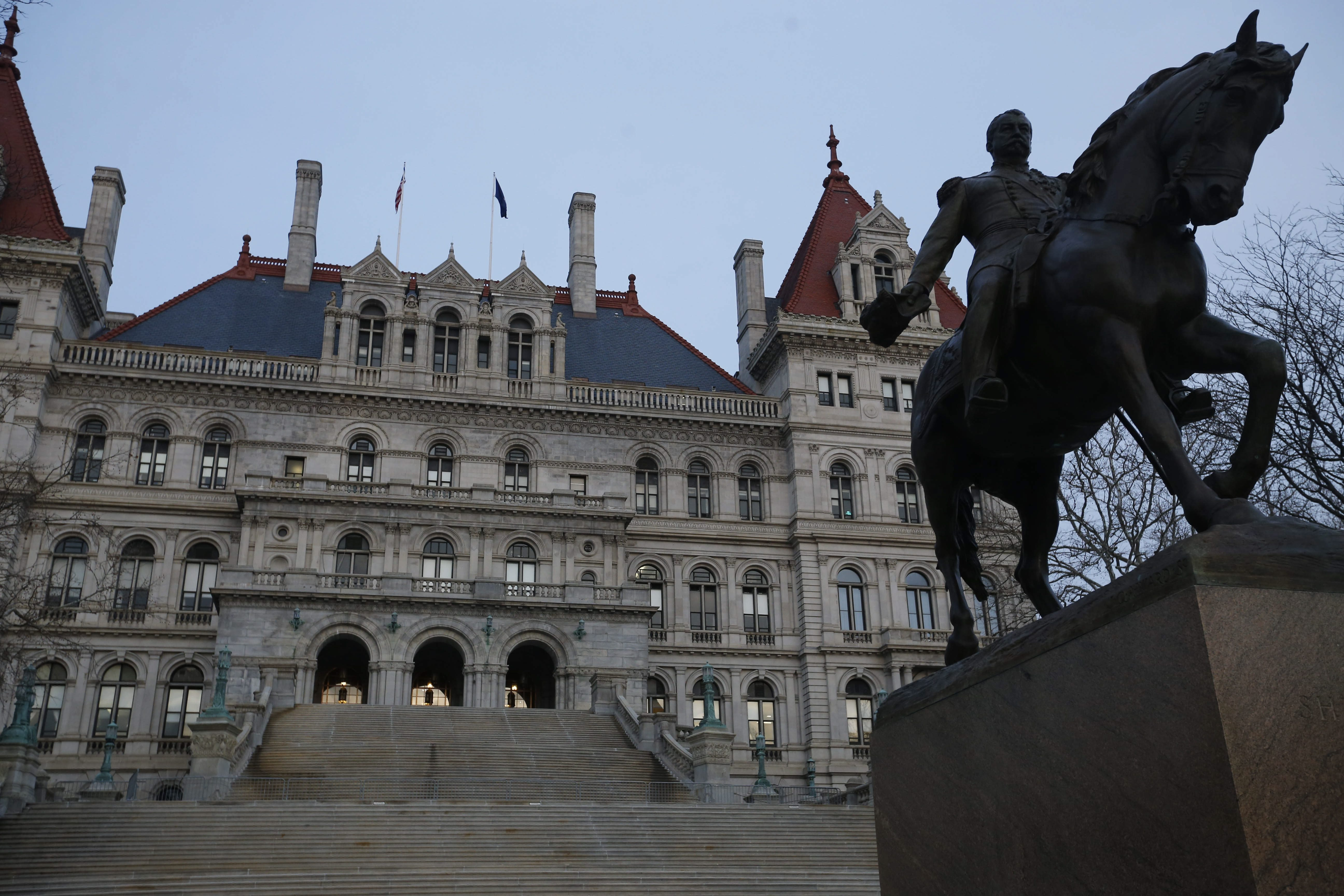 Legislative leaders revealed no details about the state budget they are putting together when they emerged Tuesday afternoon from a meeting with Gov. Andrew Cuomo. (Derek Gee/News file photo)