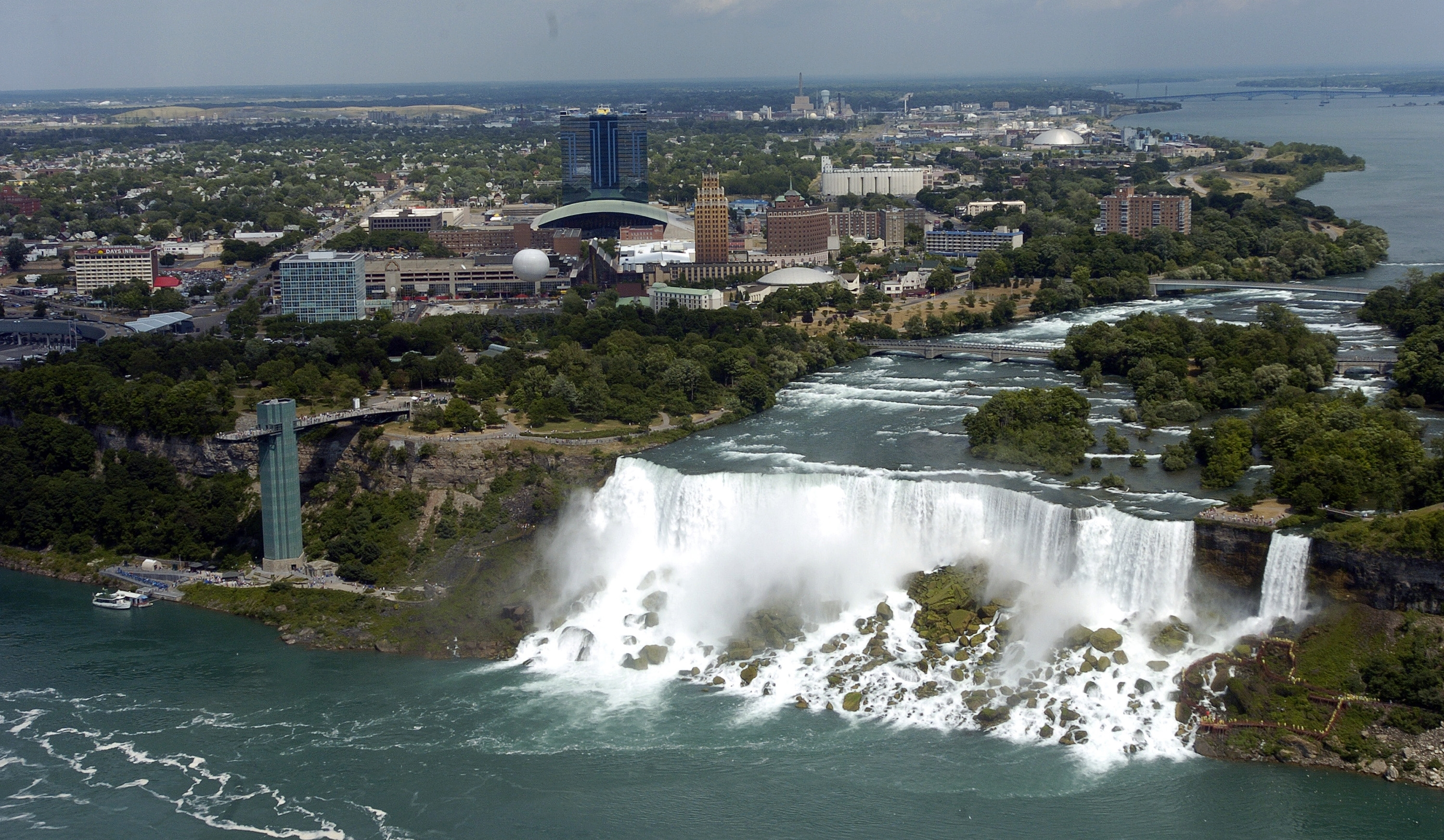 A view of Niagara Falls, N.Y.,  from the Skylon Tower in Niagara Falls, Ont.  (Harry Scull Jr./News file photo)