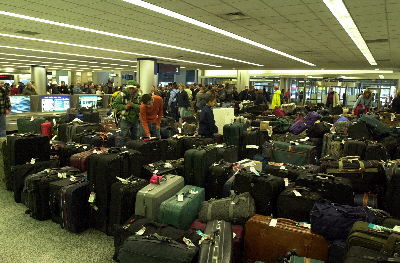 Baggage at Buffalo Niagara International Airport. (James P. McCoy/Buffalo News file photo)