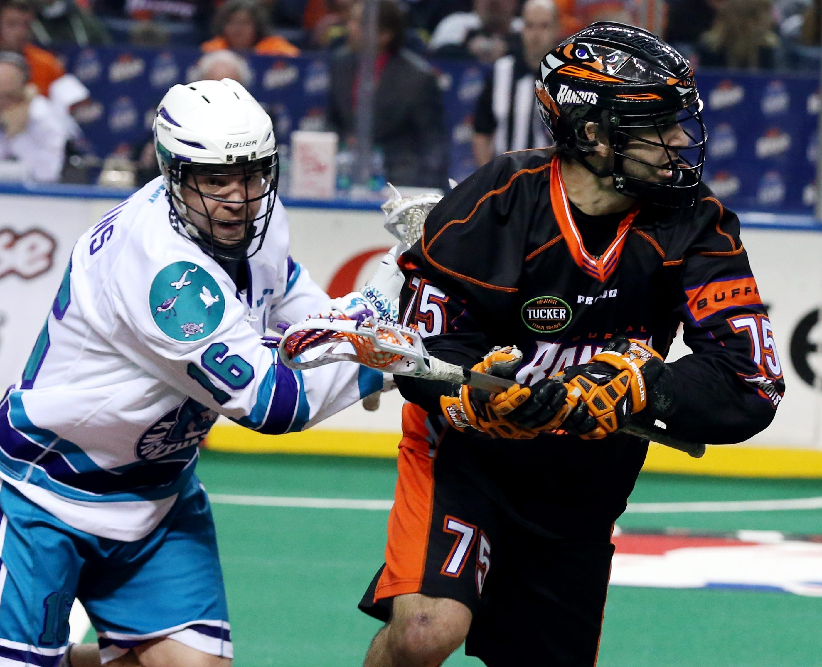 The Bandits' Jay Thorimbert is the leader of a team that's been masterful at corralling loose balls. (James P. McCoy/ Buffalo News)