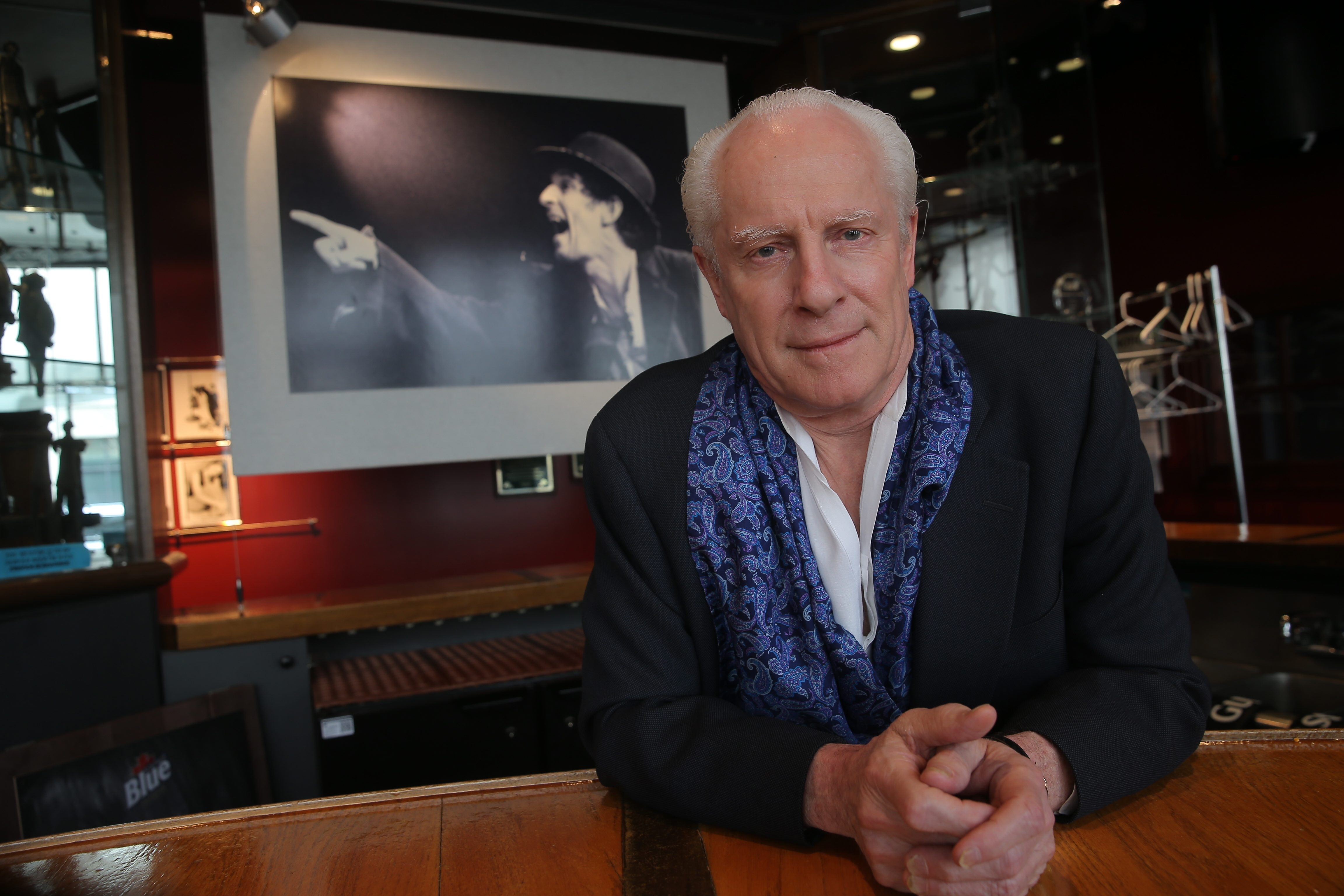 Irish Classical Theatre Company co-founder and Director Vincent O'Neill, behind the bar at the Chris O'Neill Lounge, has helped fuel the growth of Buffalo's theater scene.