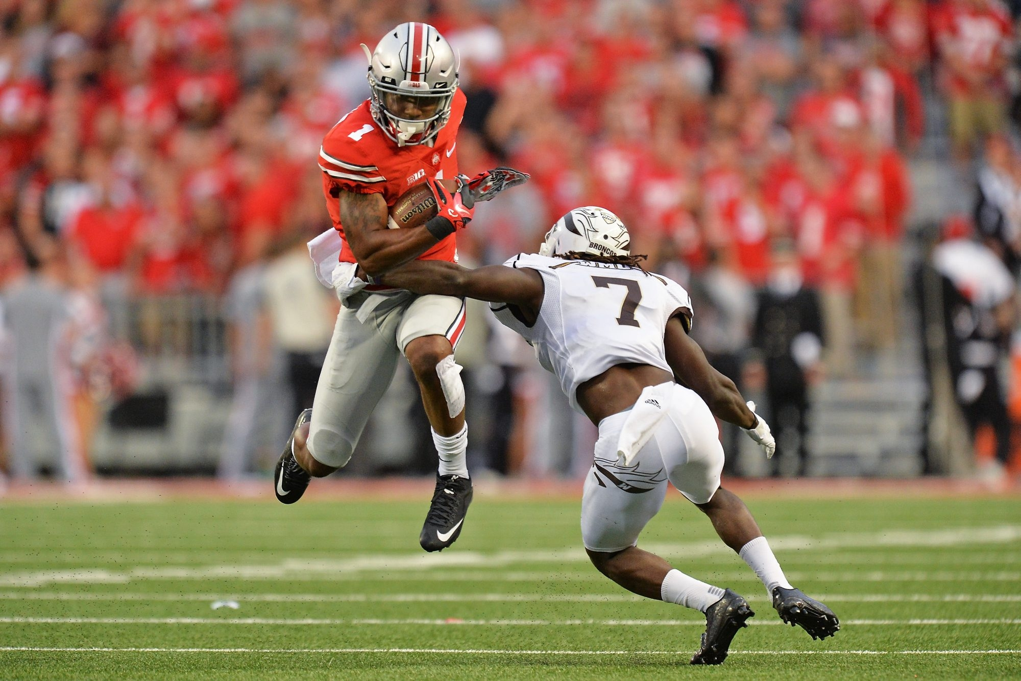 Ohio State's Braxton Miller looms as one of the more intriguing players in the draft after his conversion from quarterback to wide receiver. (Getty Images)