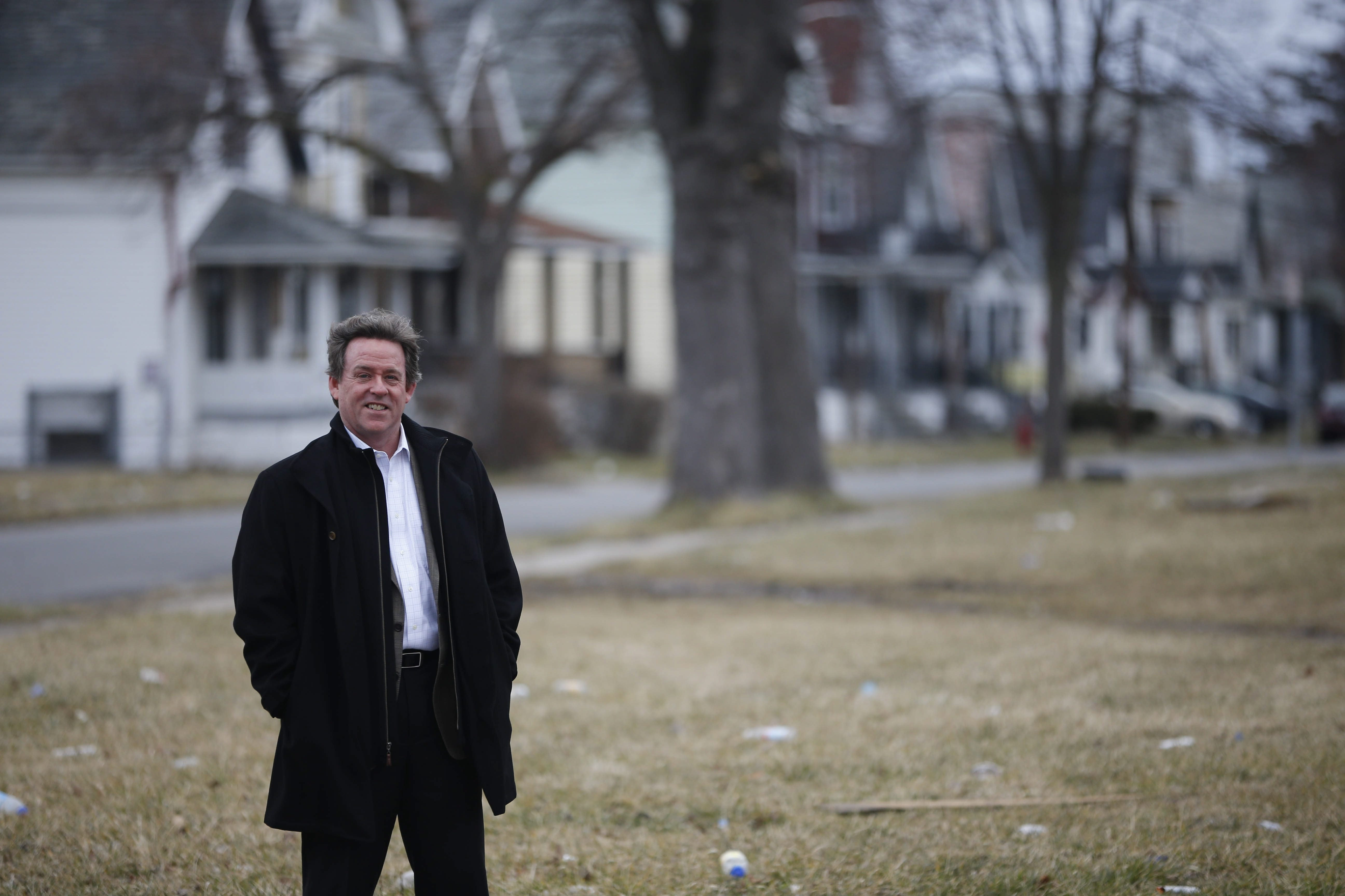 John Somers, owner of Harmac Medical Products, has shown deep concern for the Bailey Avenue neighborhood around his company.  (Derek Gee/Buffalo News)