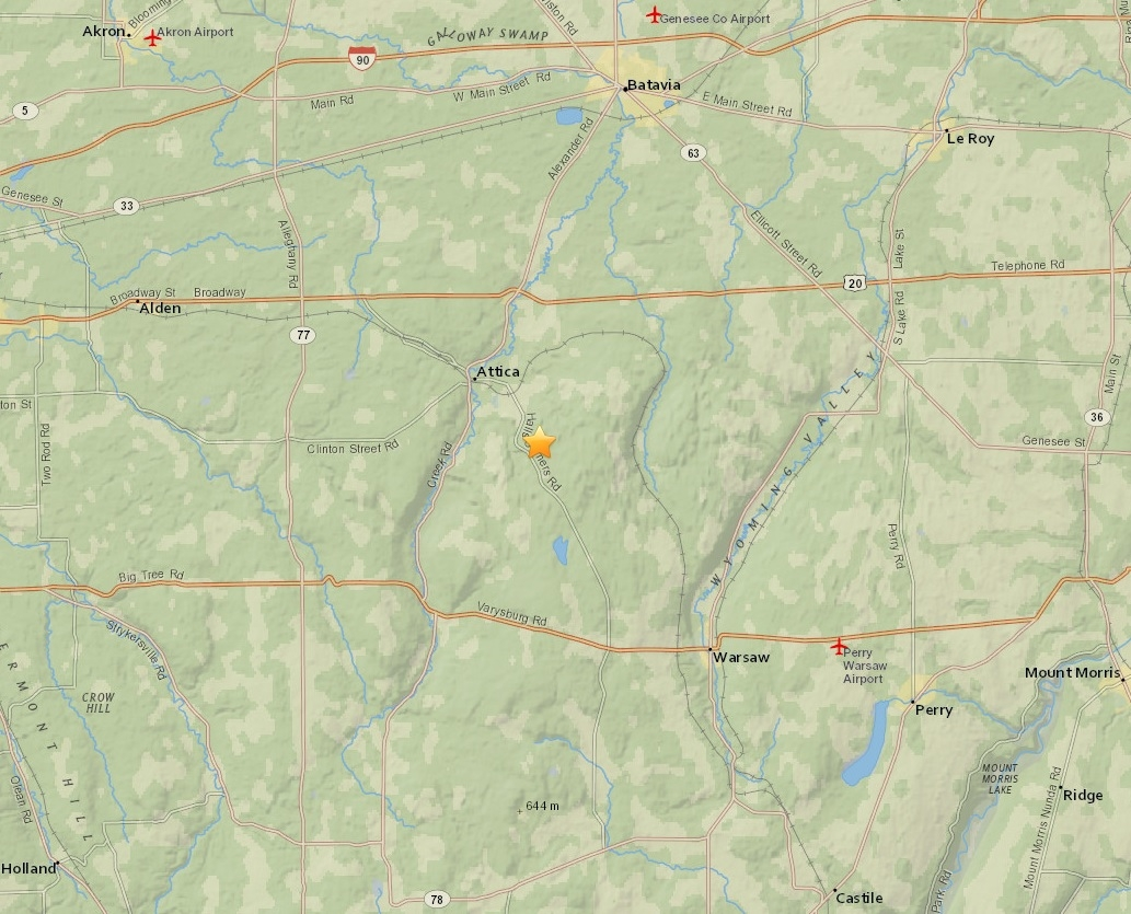 A map showing the location of Friday morning's earthquake. (U.S. Geological Survey)