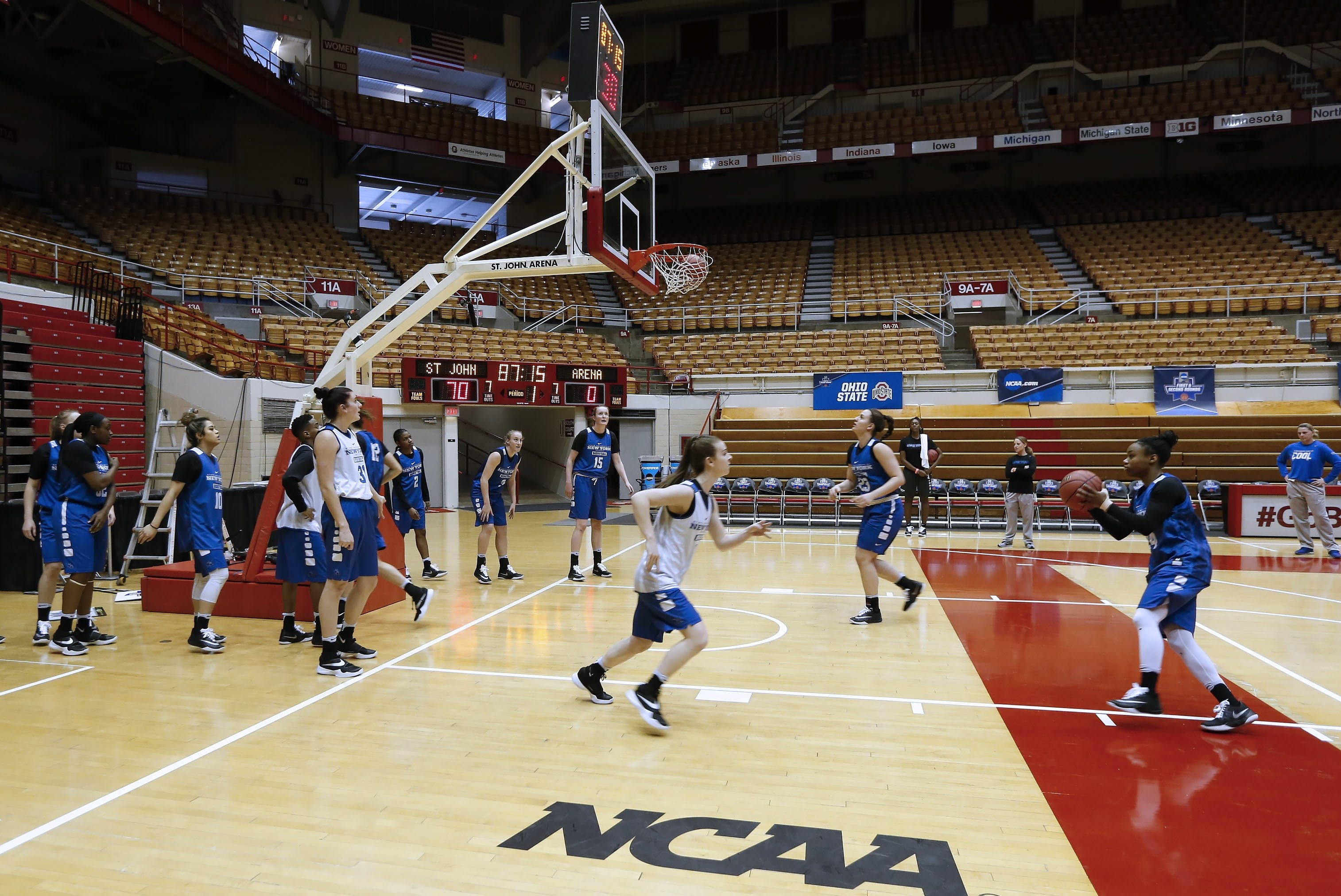 The University at Buffalo women's basketball team runs through final prepartions for its first-ever game in the NCAA Tournament, which comes Friday against Ohio State at St. John Arena.