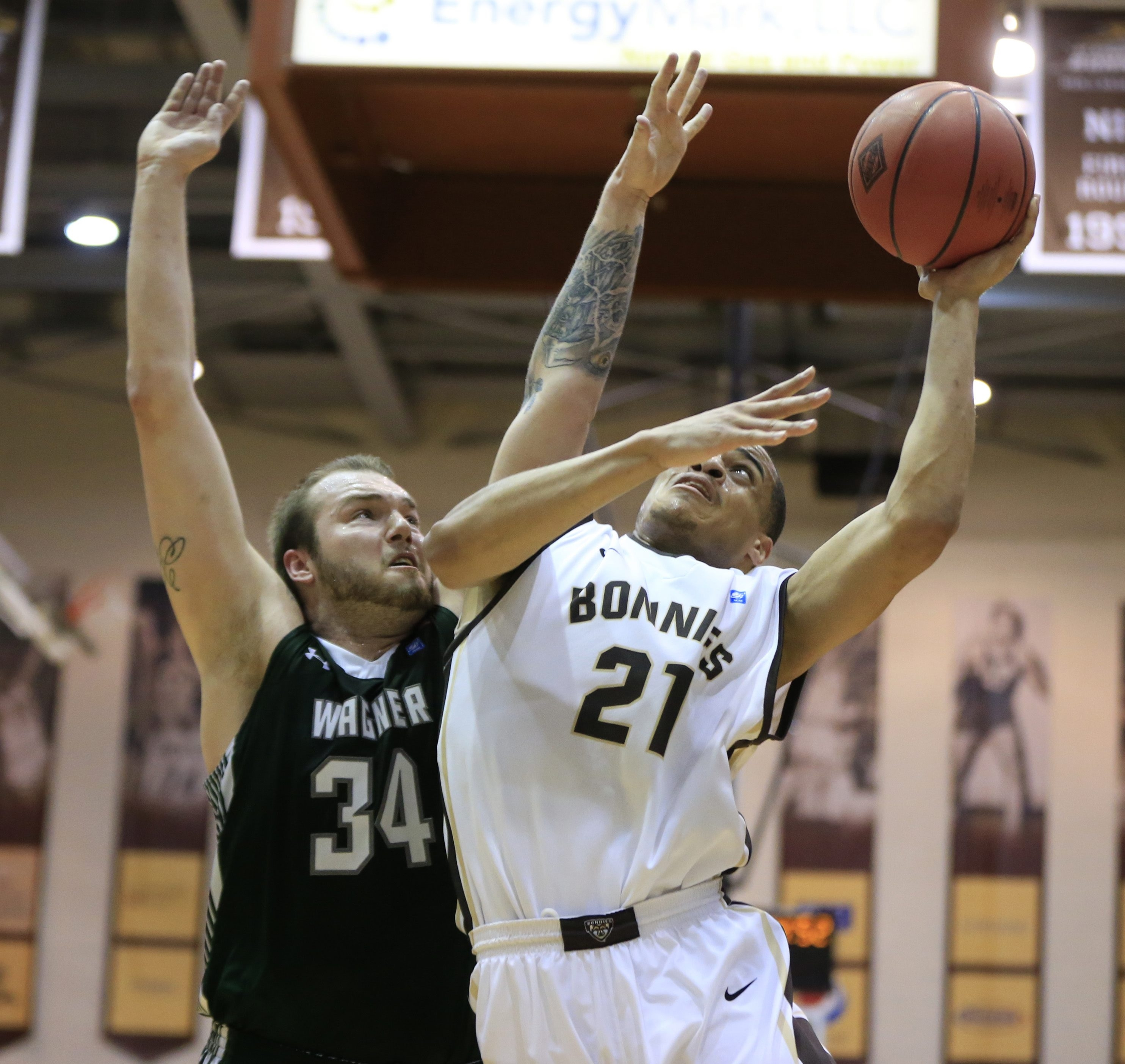 Senior Dion Wright closed out his career at St. Bonaventure in Wednesday night's loss to Wagner.