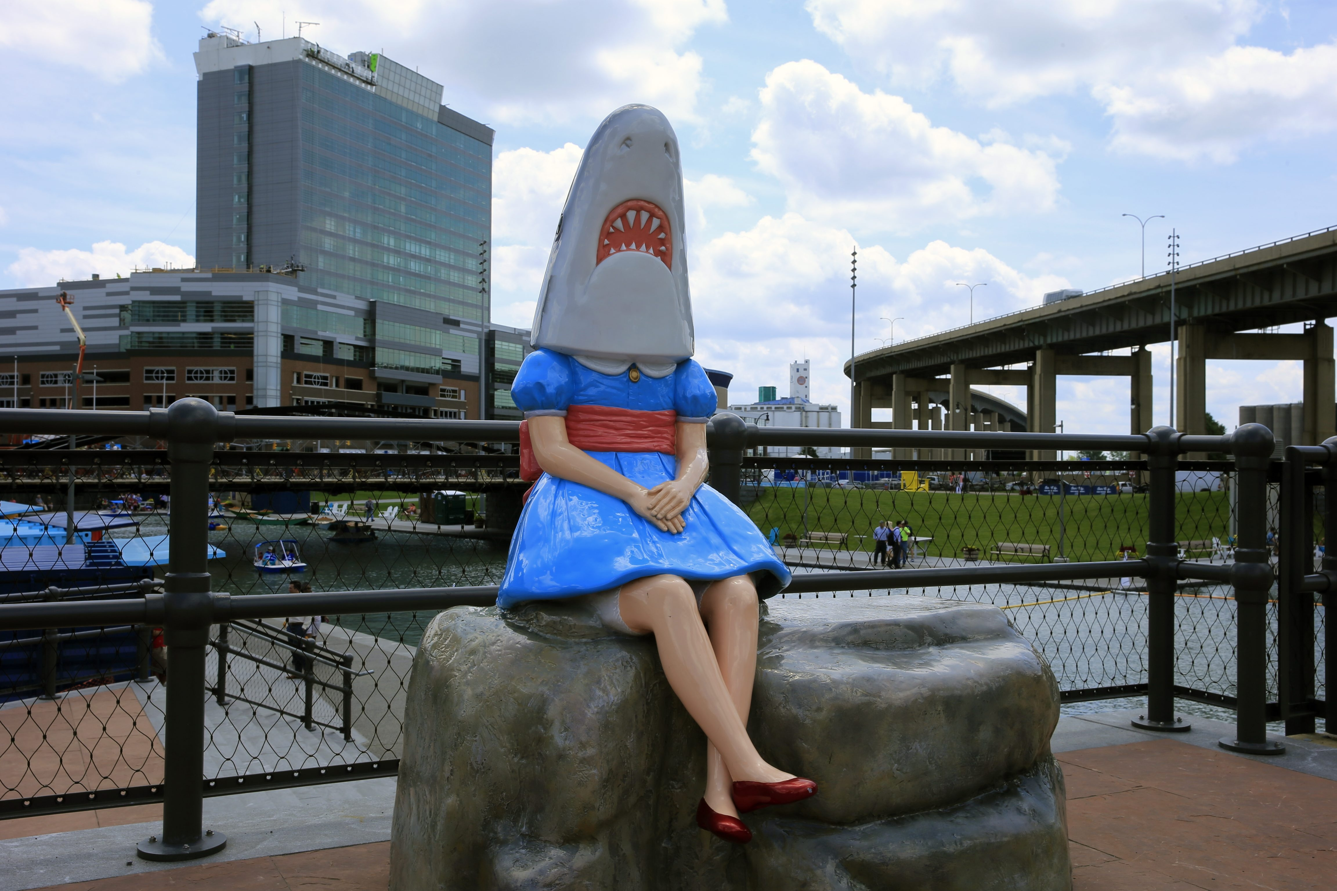 """Shark Girl"" manages to keep her chin up through it all."