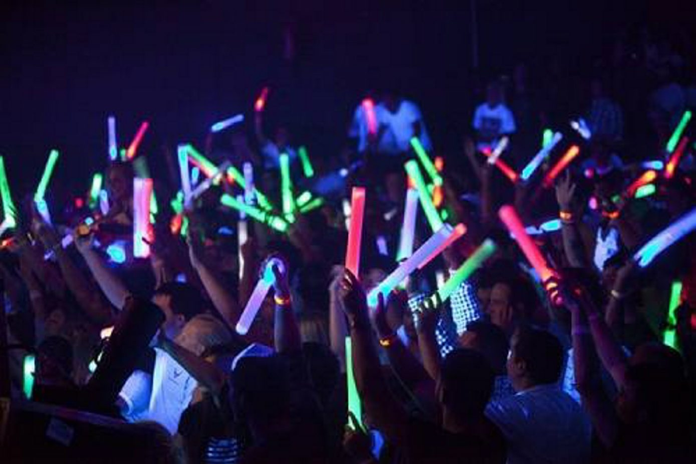 Radio-controlled glow sticks will be park of the Darien Lake laser show.