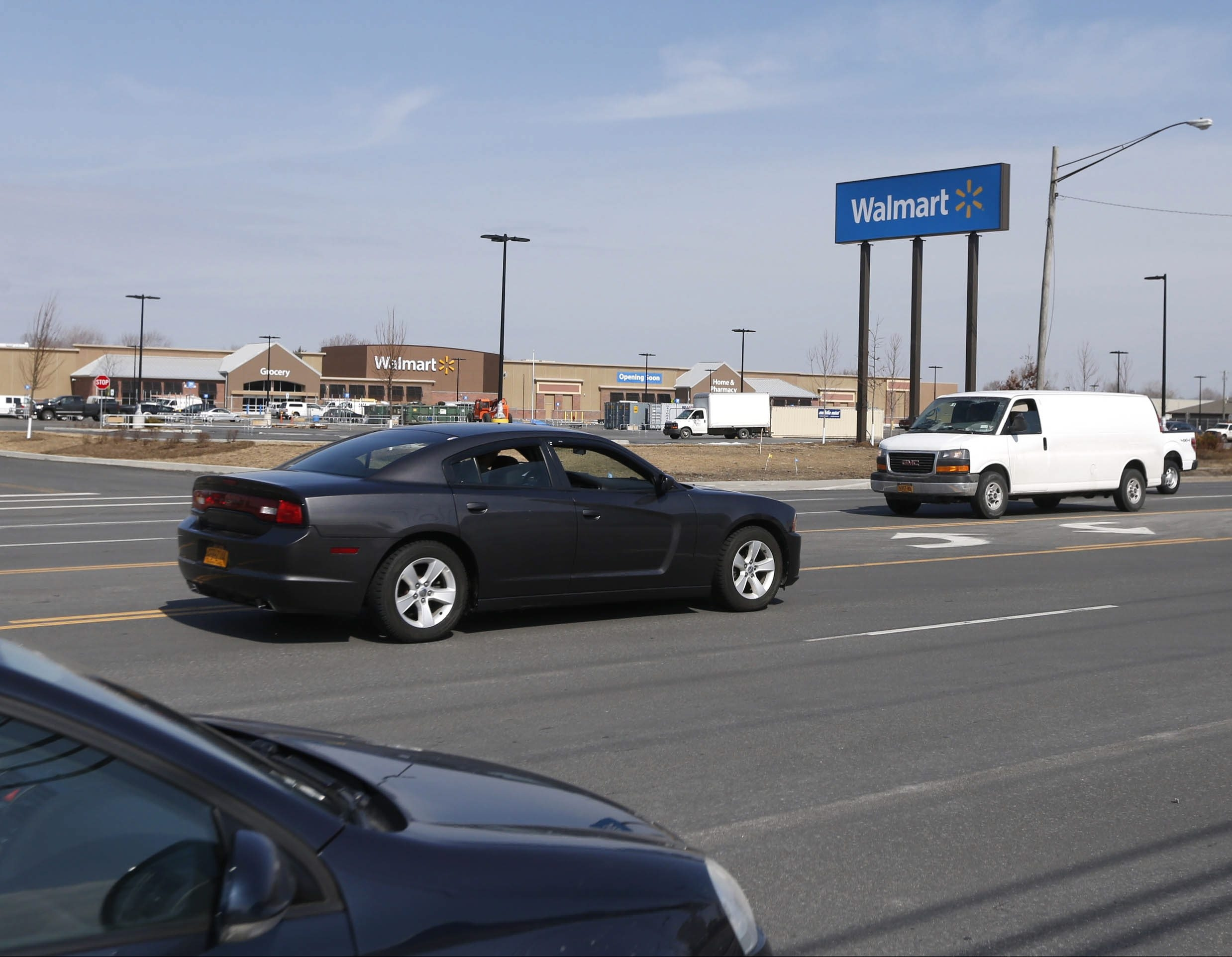 The Walmart opening on Walden Avenue in Cheektowaga is located just east of the Galleria, where a 17-year-old woman died in 1995 trying to cross the busy avenue on her way to work at the mall. (Robert Kirkham/Buffalo News)