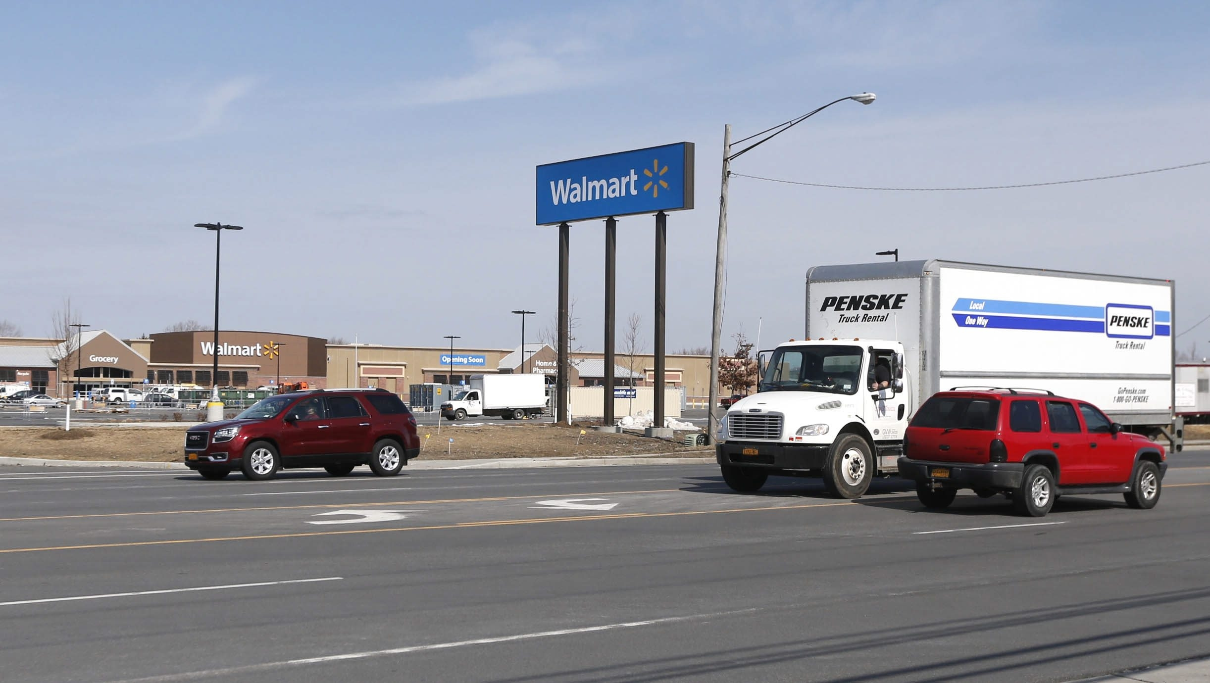 With the new Walmart location nearing completion community members are discussing the notion of having a bus stop that would keep shoppers safe on this busy section of Walden Ave. in Cheektowaga.  This was on  Tuesday, March 8, 2016.  (Robert Kirkham/Buffalo News)