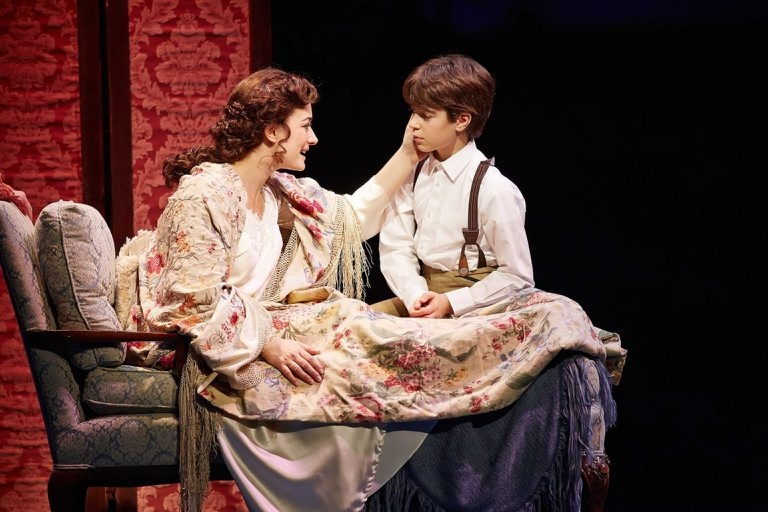 "Laura Michelle Kelly and Aiden Gemme star in the original Broadway version of ""Finding Neverland,"" the national tour of which opens in Shea's Performing Arts Center on Oct. 11."
