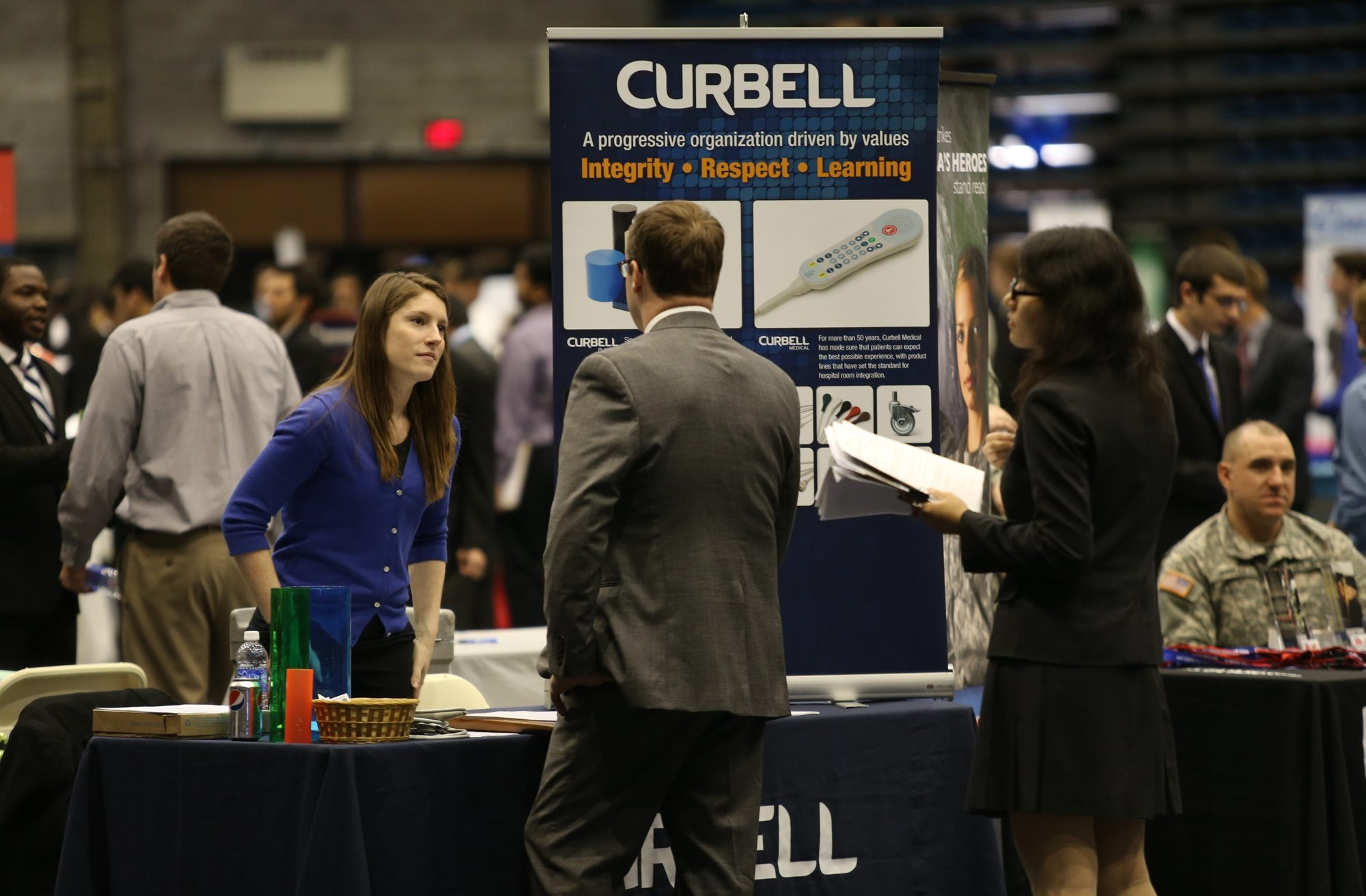 Job fairs such as this one at the University at Buffalo have helped promote a wave of hiring in region.