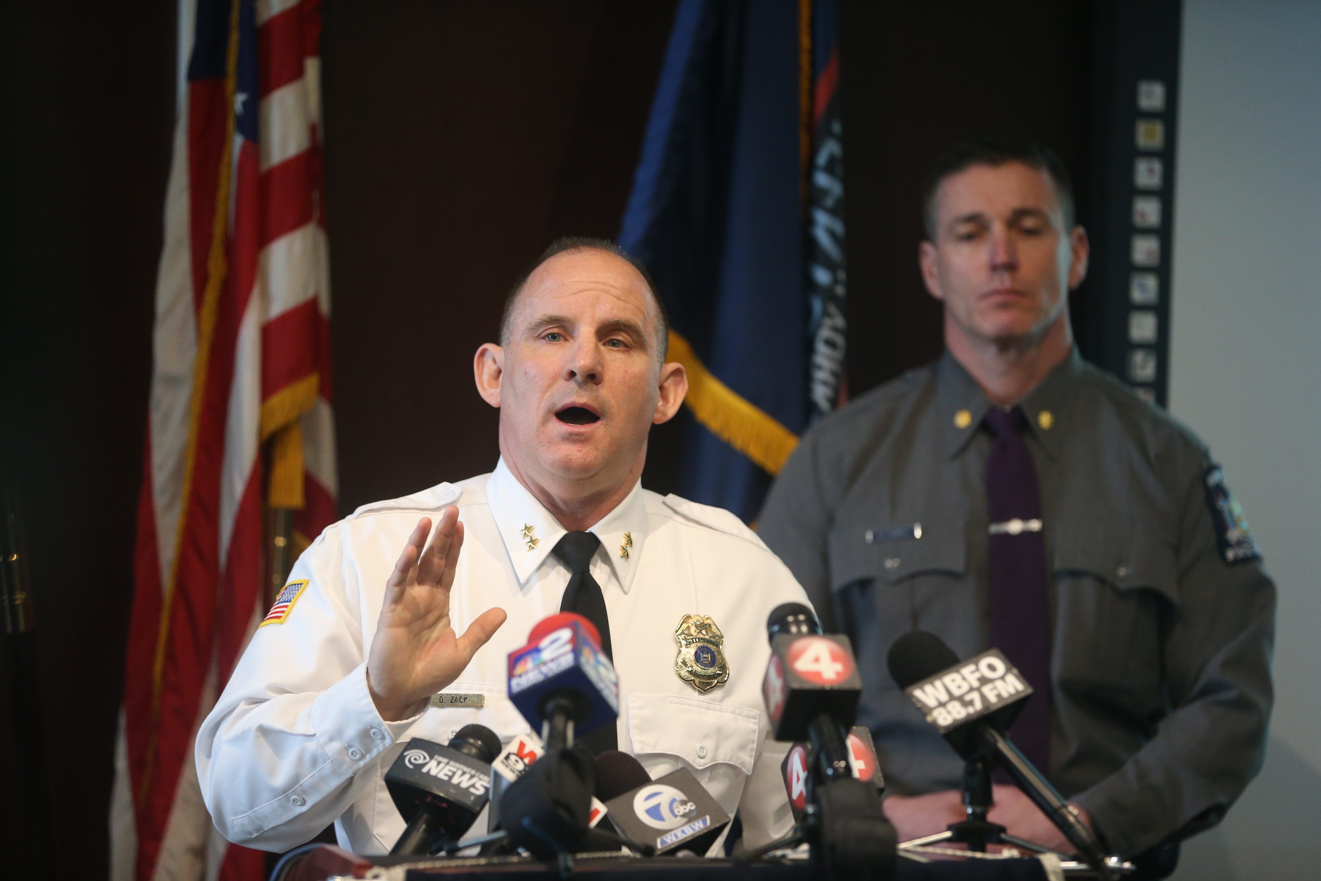 Cheektowaga Police Chief David Zack speaks at a news conference about the fatal shooting of a Java man by a police officer. (John Hickey/Buffalo News)