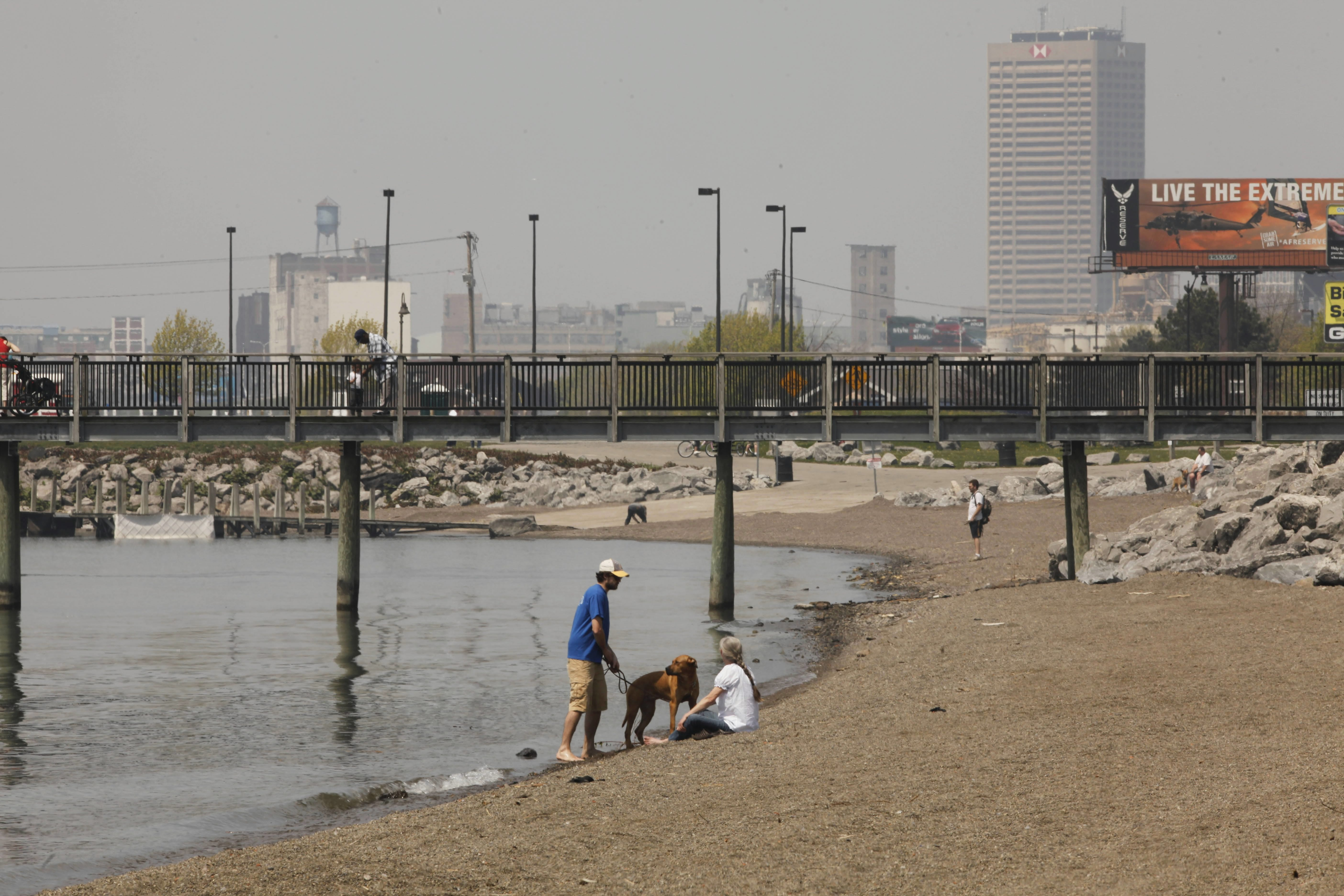 Gallagher Beach may not be much to look at, but it offers access to Lake Erie. {Derek Gee/Buffalo News file photo}