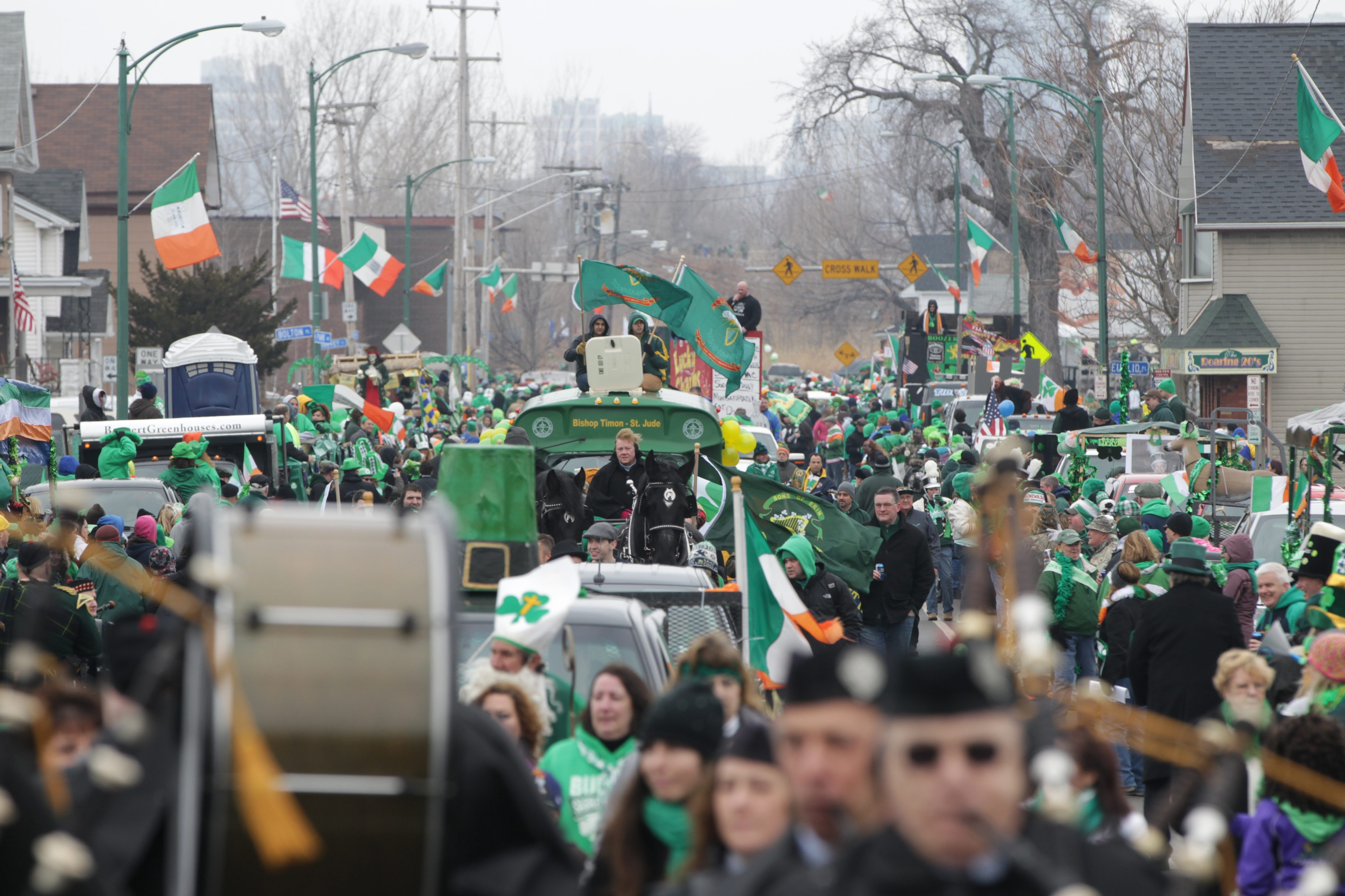 """Thousands of people enjoyed the """"Old Neighborhood"""" St. Patrick's Day Parade in the Old First Ward on March 15, 2014. (James P. McCoy/News file photo)"""