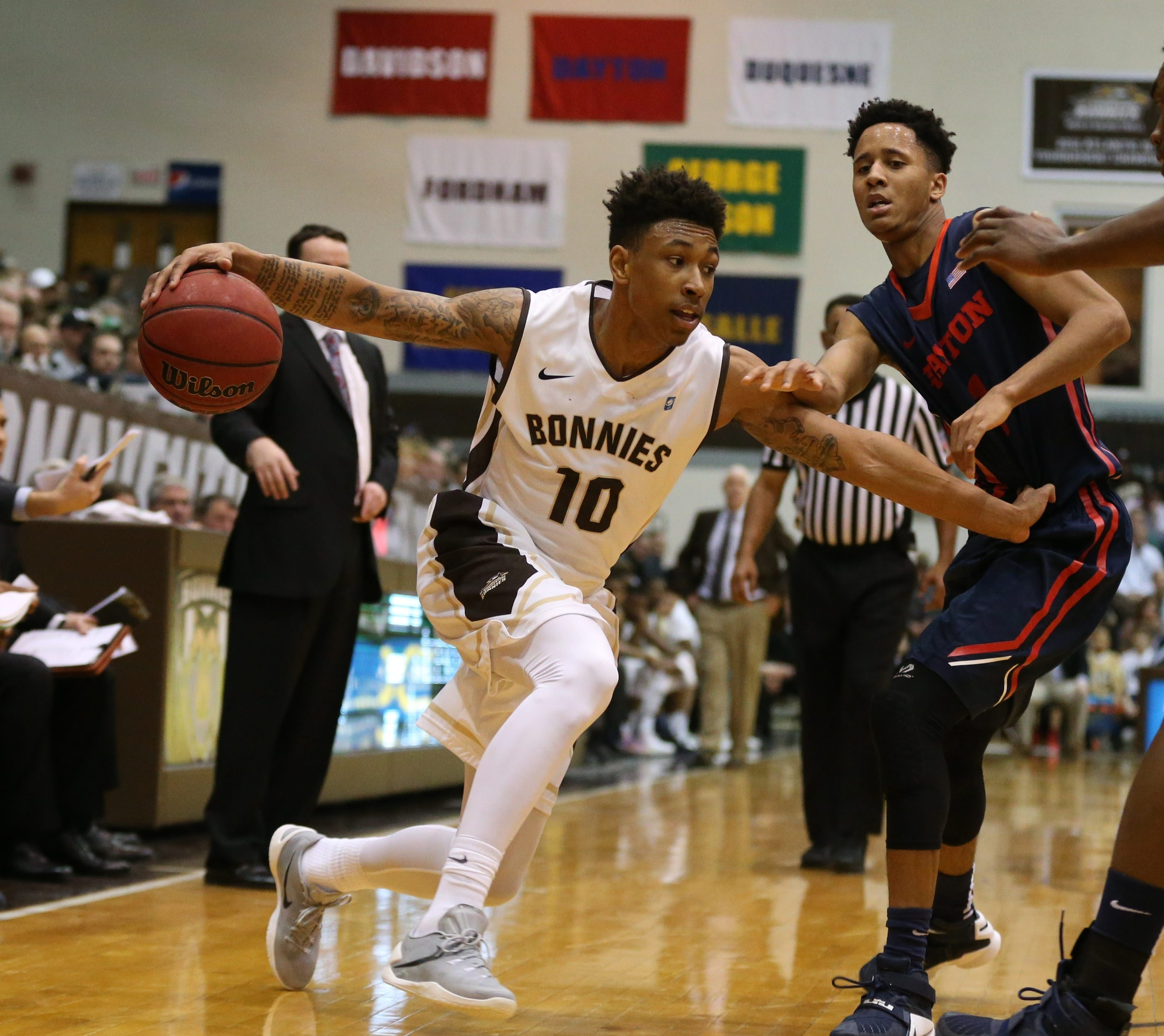 St. Bonaventure guard Jaylen Adams is playing at an all-conference level, says St. Joseph's coach Phil Martelli.