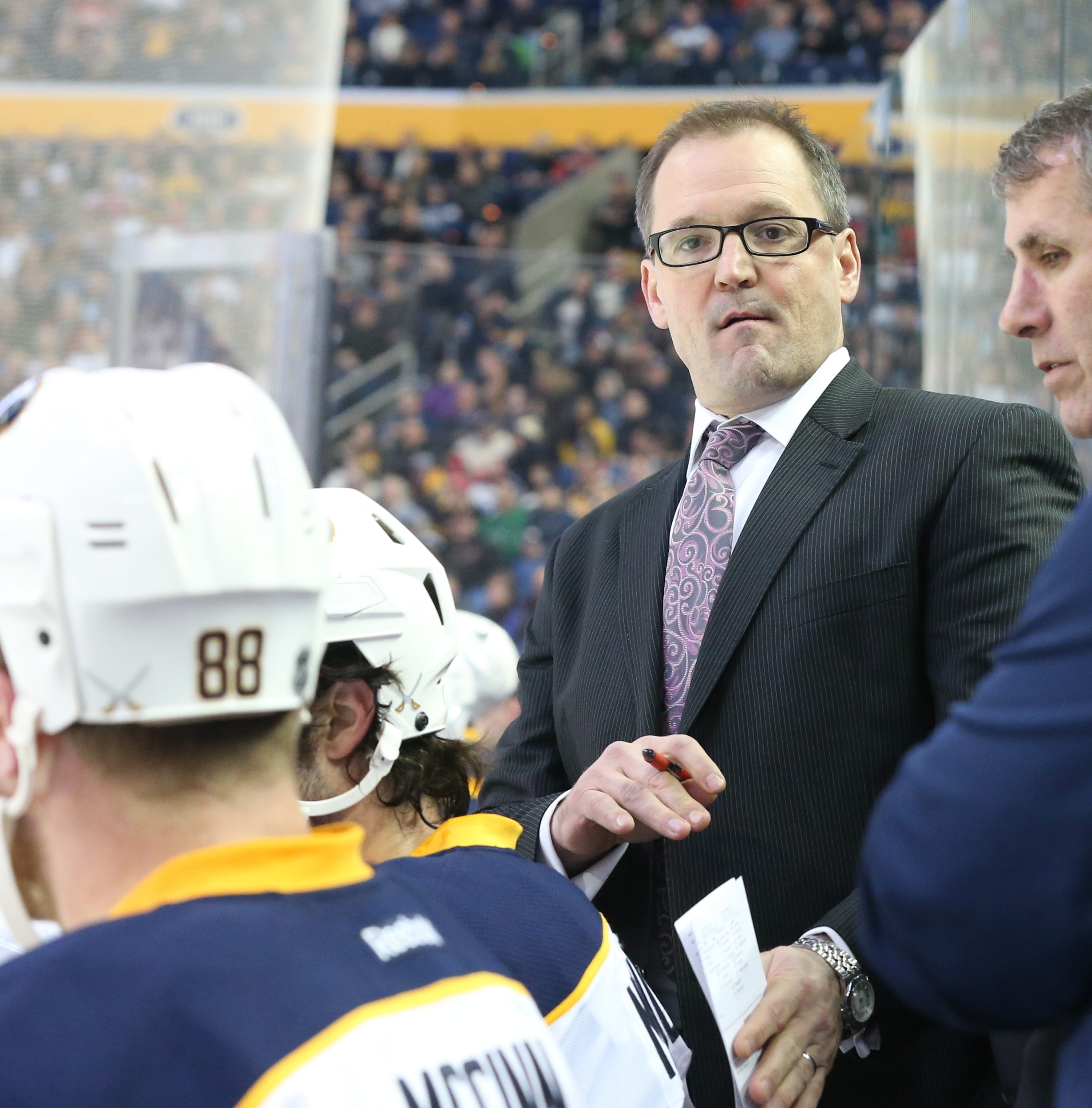 Sabres head coach Dan Bylsma is starting to feel a little heat for his team's play so far this season.