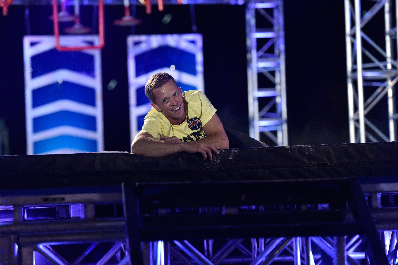 """AMERICAN NINJA WARRIOR -- """"Las Vegas Finals"""" -- Pictured: Geoff Britten -- (Photo by: David Becker/NBC)"""