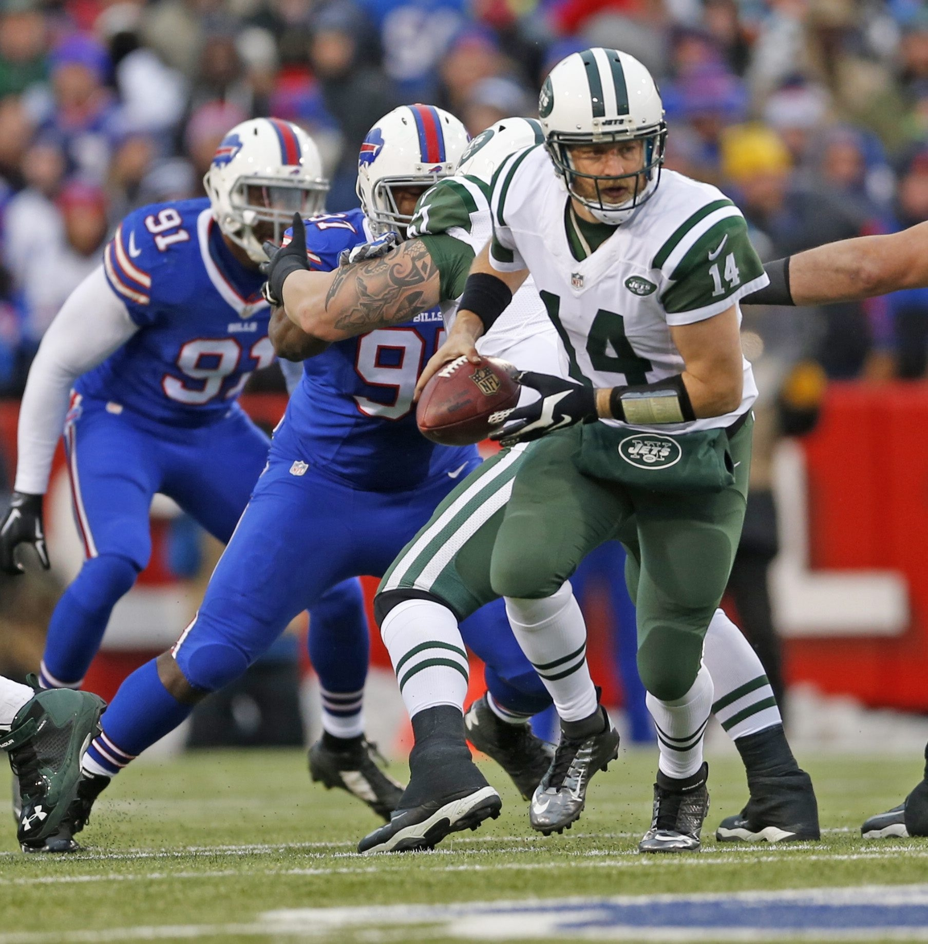 Ryan Fitzpatrick could be looking at his fifth team in five years if he doesn't get the money he wants from the Jets.