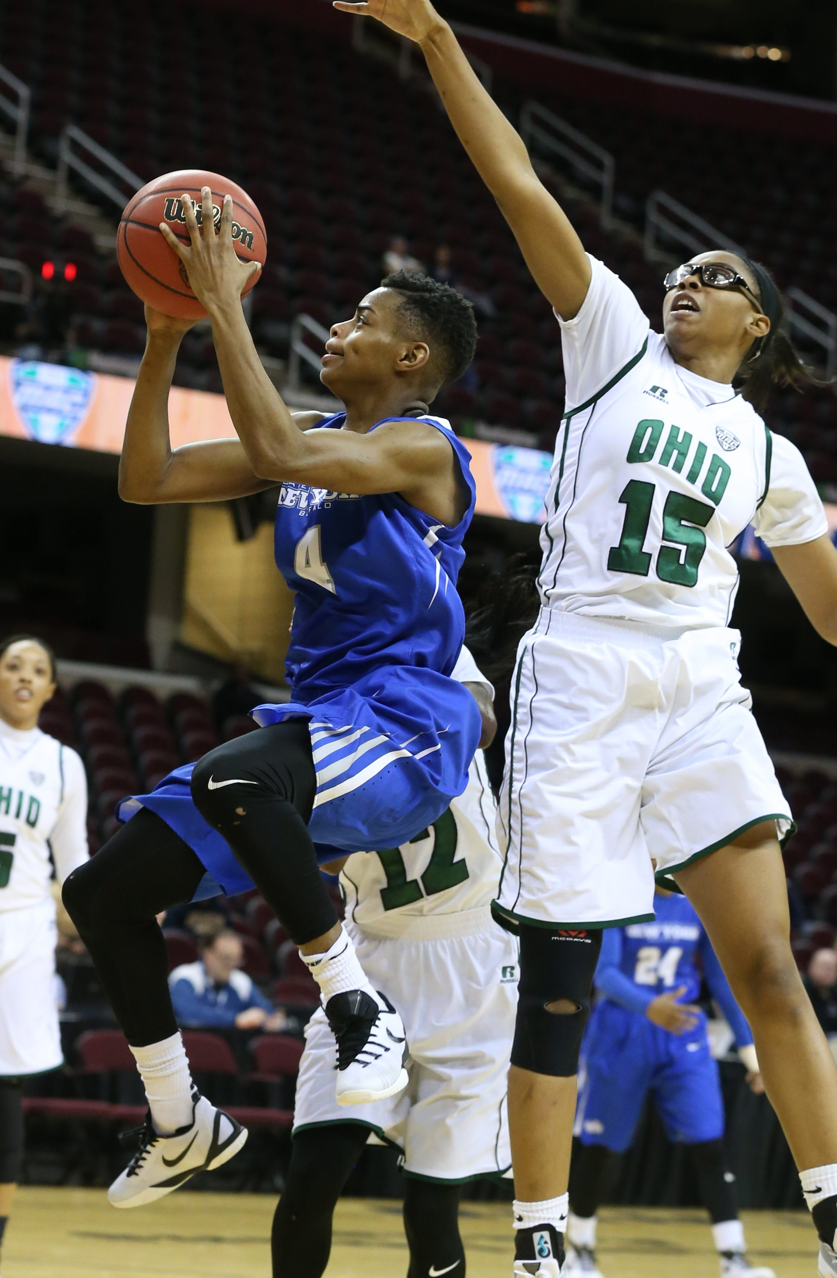 UB's Joanna Smith had a team-high 19 points and 10 rebounds in the Bulls' win over Ohio in the MAC Tournament quarterfinals.