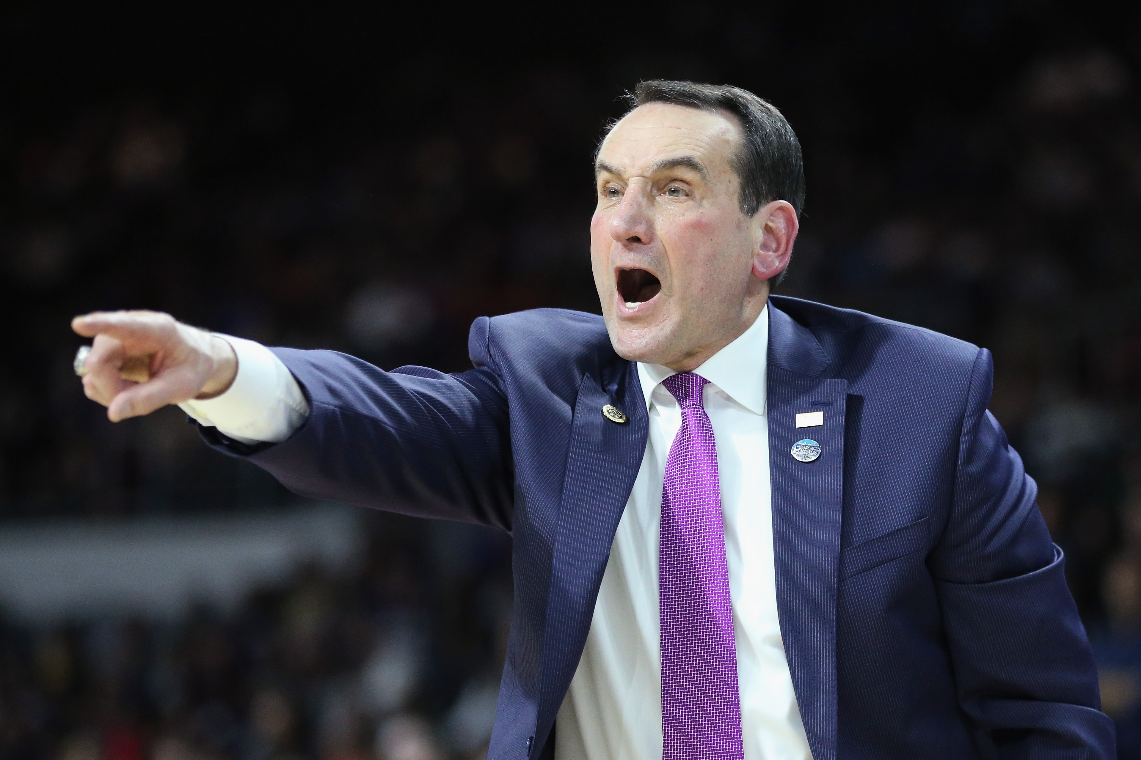 Duke's Mike Krzyzewski was actually trying to teach Oregon's Dillon Brooks and protect him at the same time.