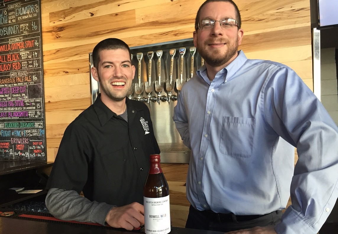 Matt Kahn and Corey Catalano of Big Ditch Brewing Company. (Kevin Wise/Special to The News)