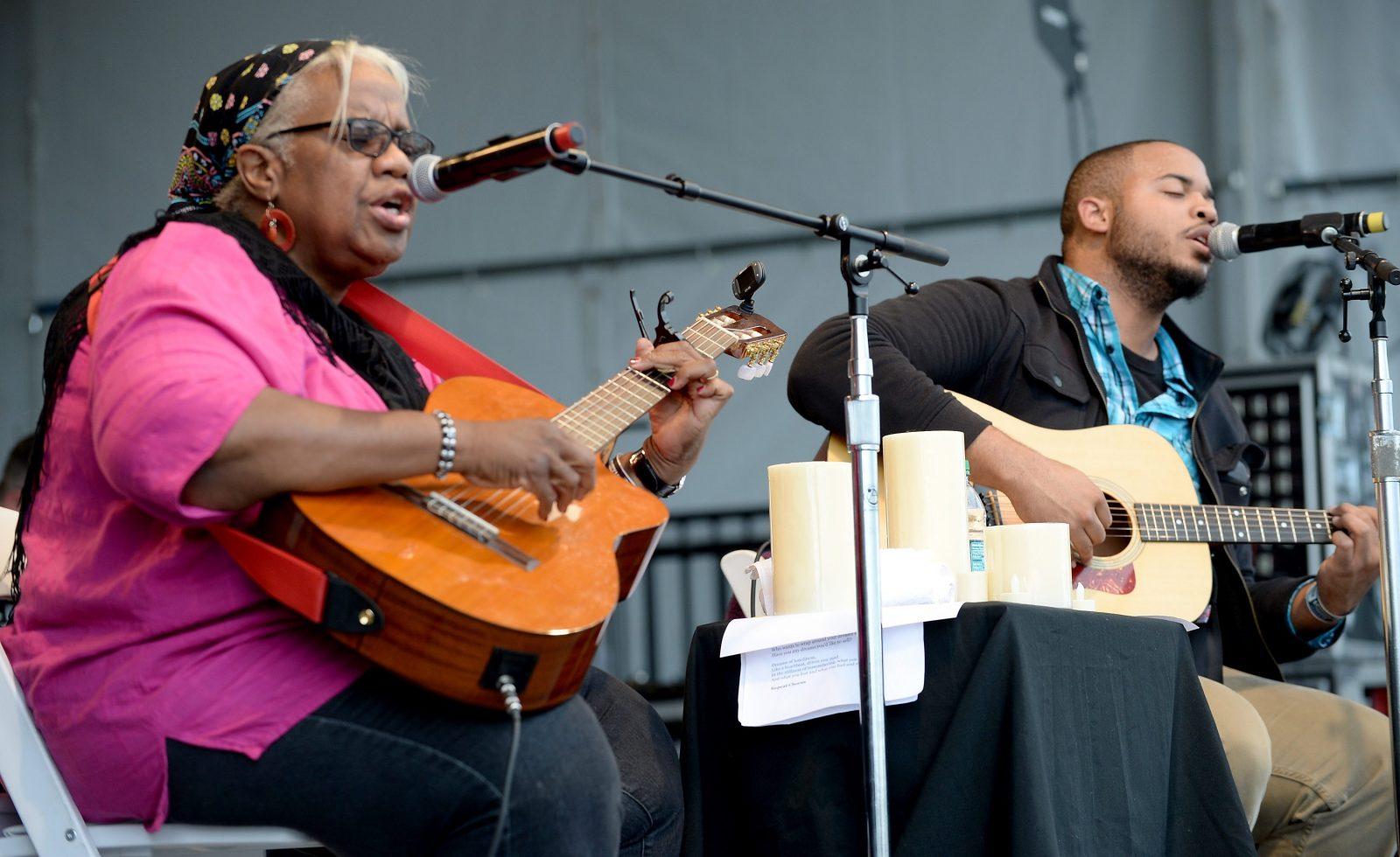 Ruth Ward and Madisen Ward of Madisen Ward and the Mama Bear will perform at Kerfuffle on July 23 at Canalside. (Getty Images)