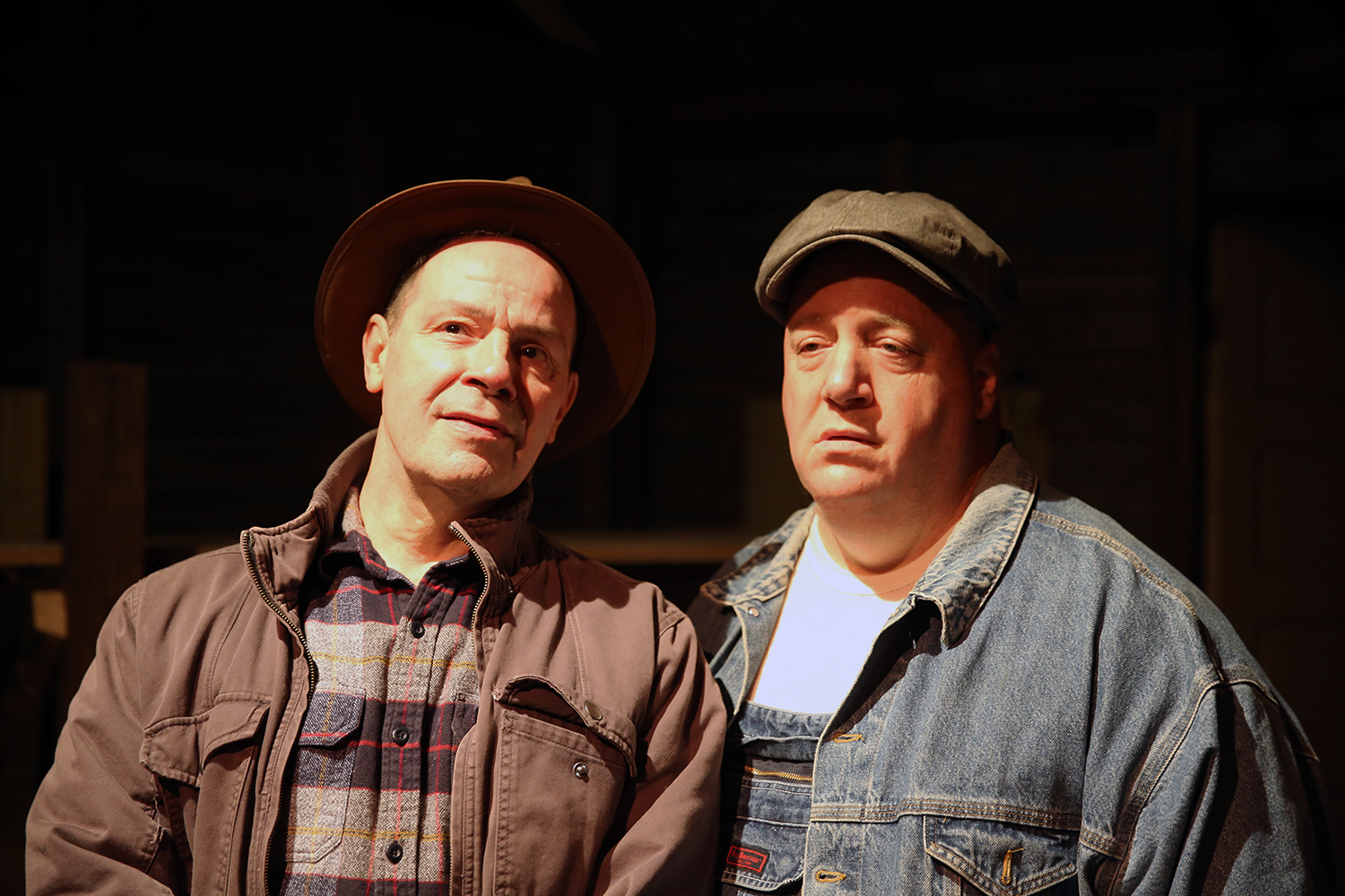 John Fredo, left, and Greg Natale star in 'Of Mice and Men' for New Phoenix Theatre.