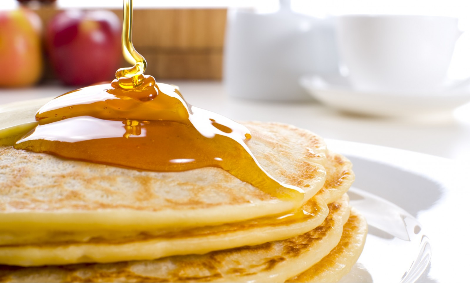 Pancakes with butter and syrup and more await hungry Maple Weekenders.