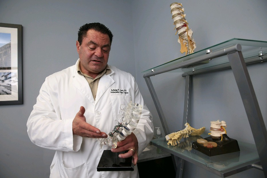 Cheektowaga spine surgeon Dr. Anthony Leone is among those who recommend back sugery, opiod use as last resorts. (Sharon Cantillon/Buffalo News)