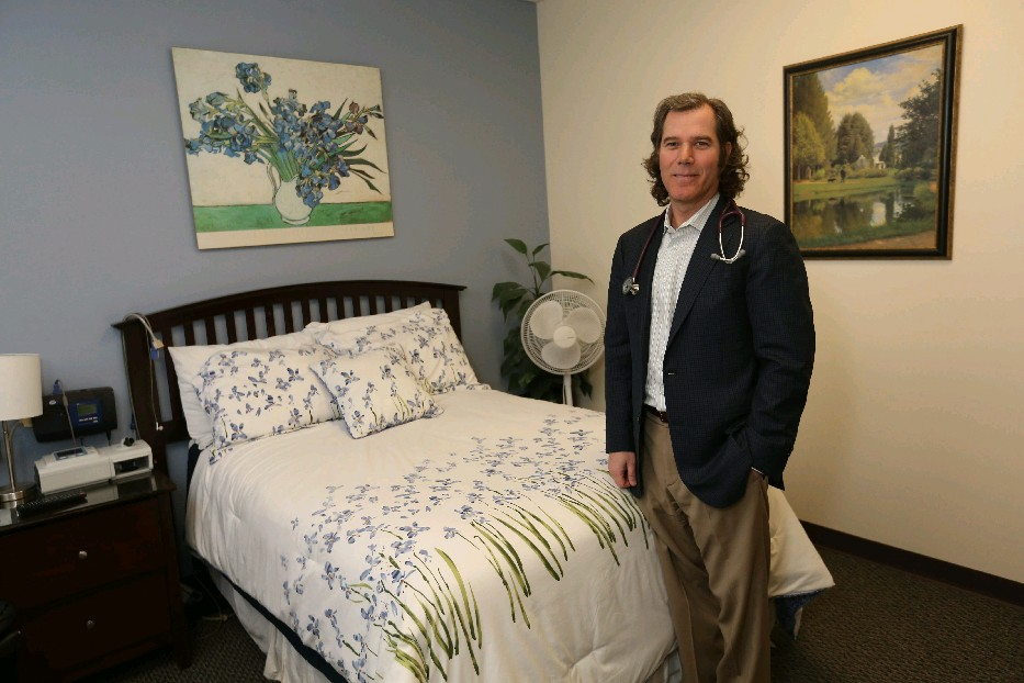 Dr. Daniel Rifkin, of the Sleep Medicine Centers of Western New York, says many folks who suffer with sleeping problems don't take advantage of professional help. (Sharon Cantillon/Buffalo News)