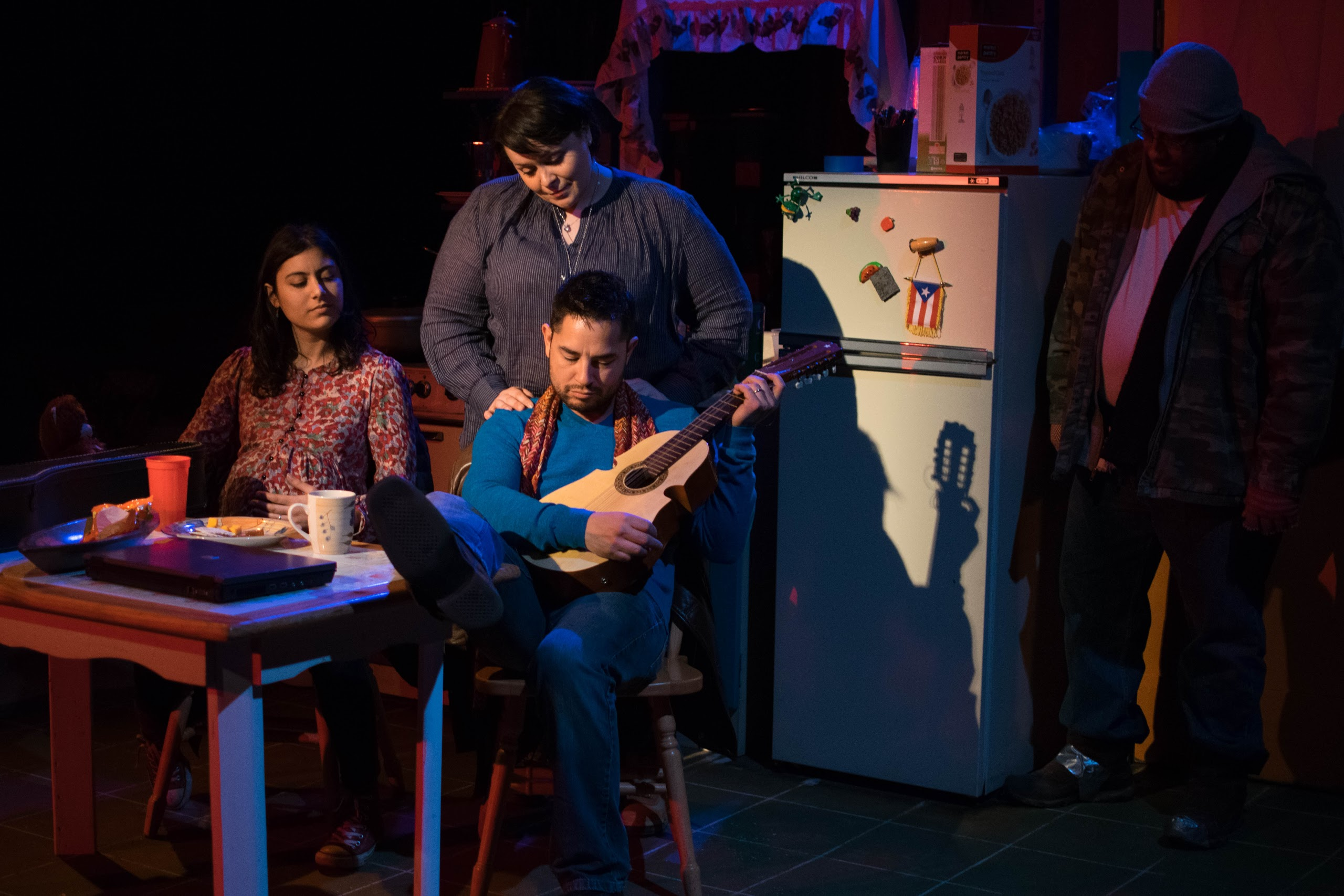 Ana Vafai, Marta Araceli and Anthony Alcocer star in Raíces Theatre's production of 'The Happiest Song Plays Last.'