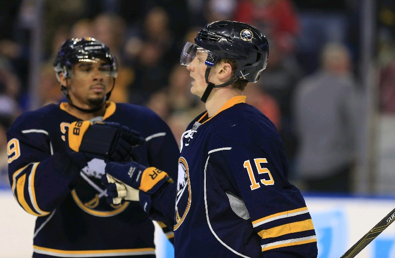 There's chemistry brewing among Evander Kane, Jack Eichel and Sam Reinhart (Harry Scull Jr./Buffalo News)