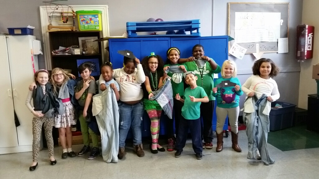 Kids involved in YMCA Buffalo Niagara after-school programs, including these students, are participating in the Sole Hope project.