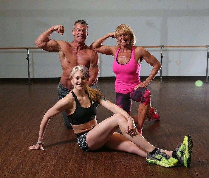 Ron, Maureen and daughter, Courtney, worked out hard and ate right for a recent bodybuilding contest. (Sharon Cantillon/Buffalo News)