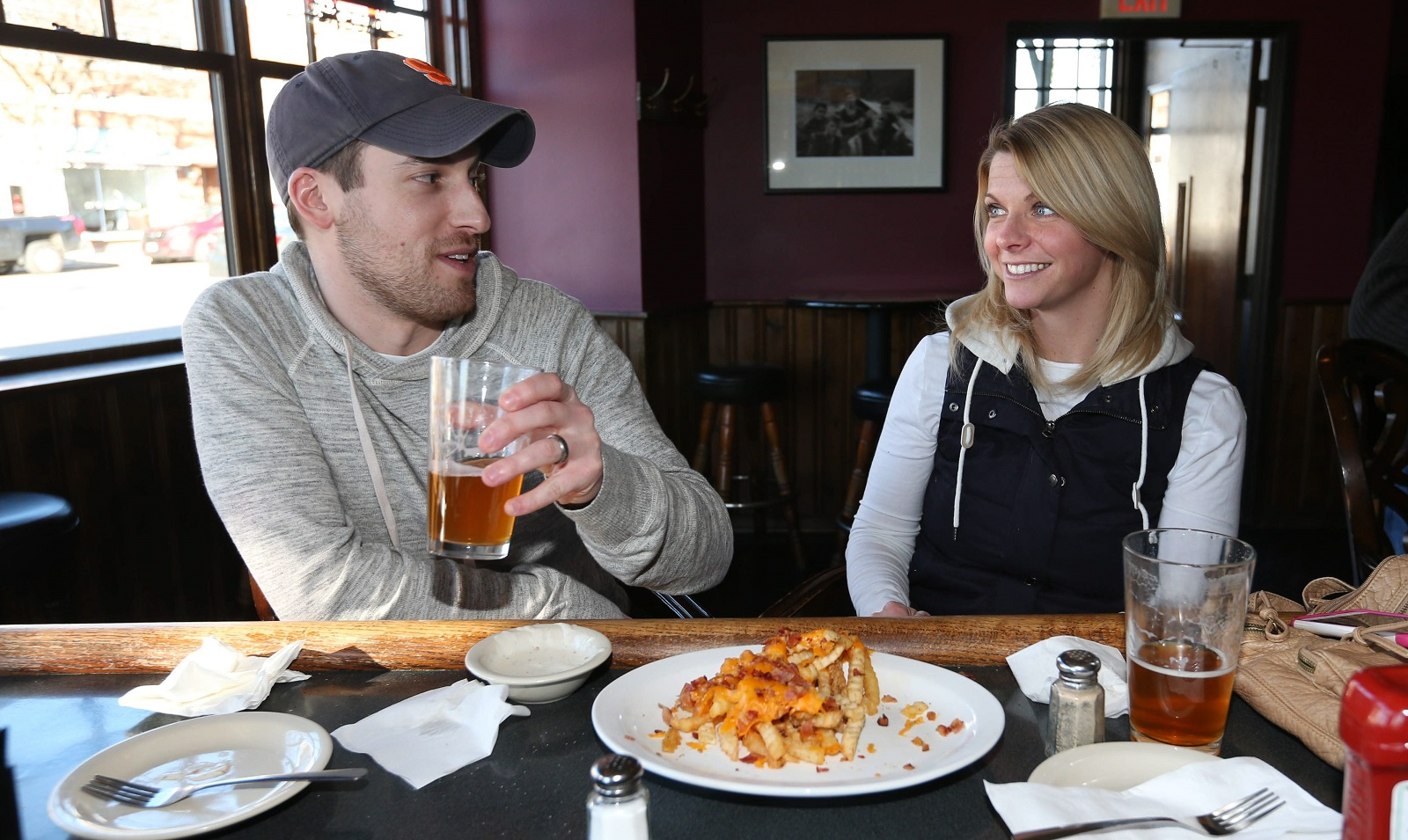 Loughran's is at 4543 Main St. in Snyder. Steve and Amanda Glick of the Town of Tonawanda get some time out. (Sharon Cantillon/Buffalo News)