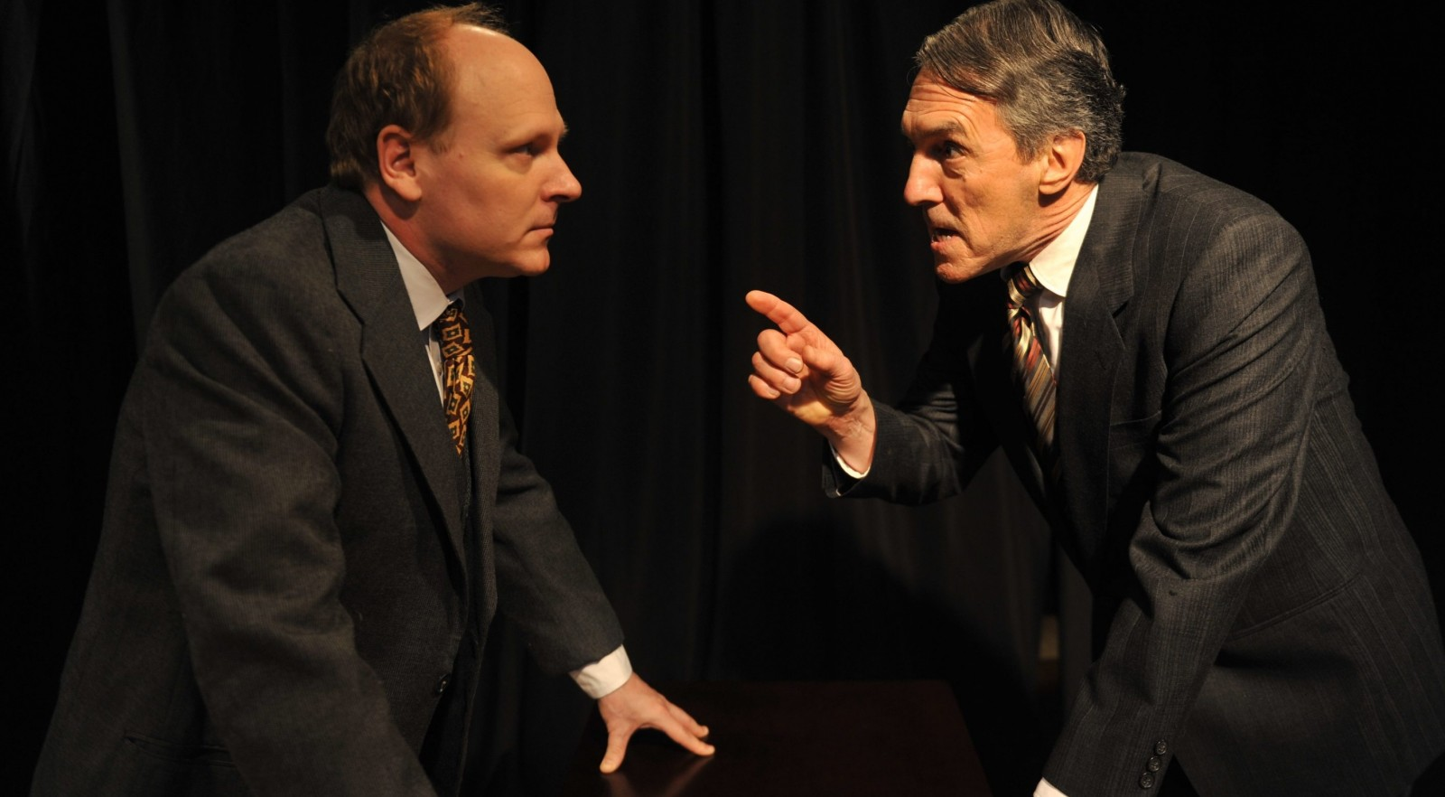 "Ray Boucher and Peter Palmisano star in ""Compulsion or The House Behind,"" March 31 – April 24 at the Jewish Repertory Theatre."