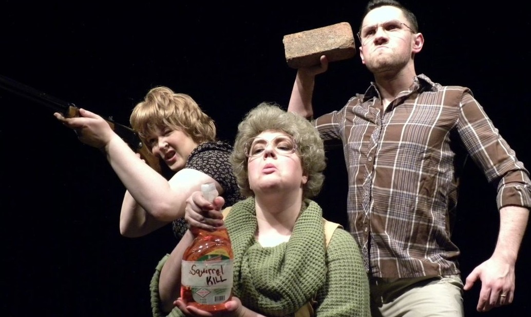 Edith Grossman, Bethany Sparacio and Tyler Brown star in 'Buffalo Quickies' 2016 at Alleyway Theatre.