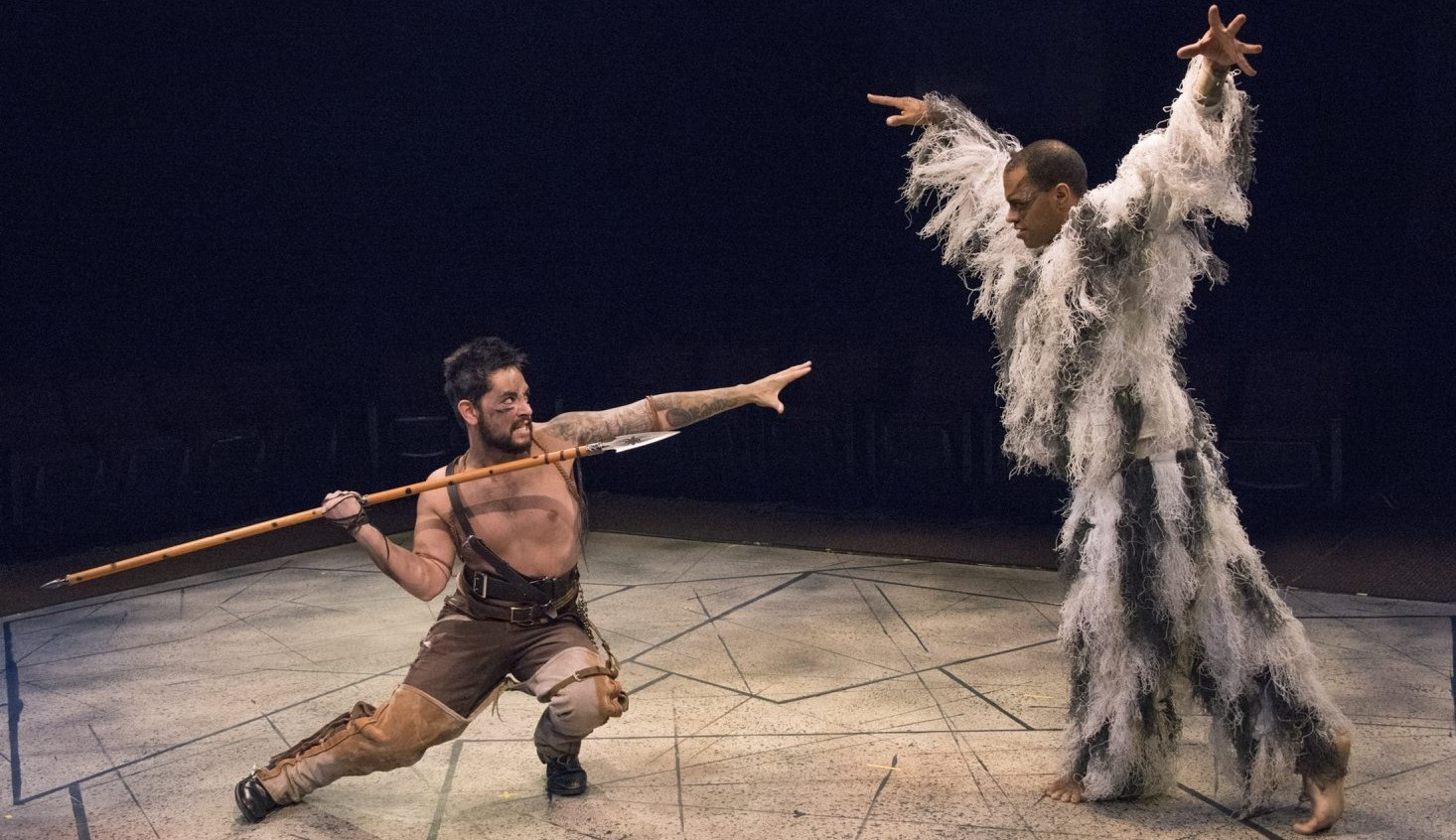 """Anthony Alcocer and Immanuel Naylor star in the """"The Yeats Project,"""" a collaboration among the Irish Classical Theatre Company, LehrerDance and Torn Space Theater."""