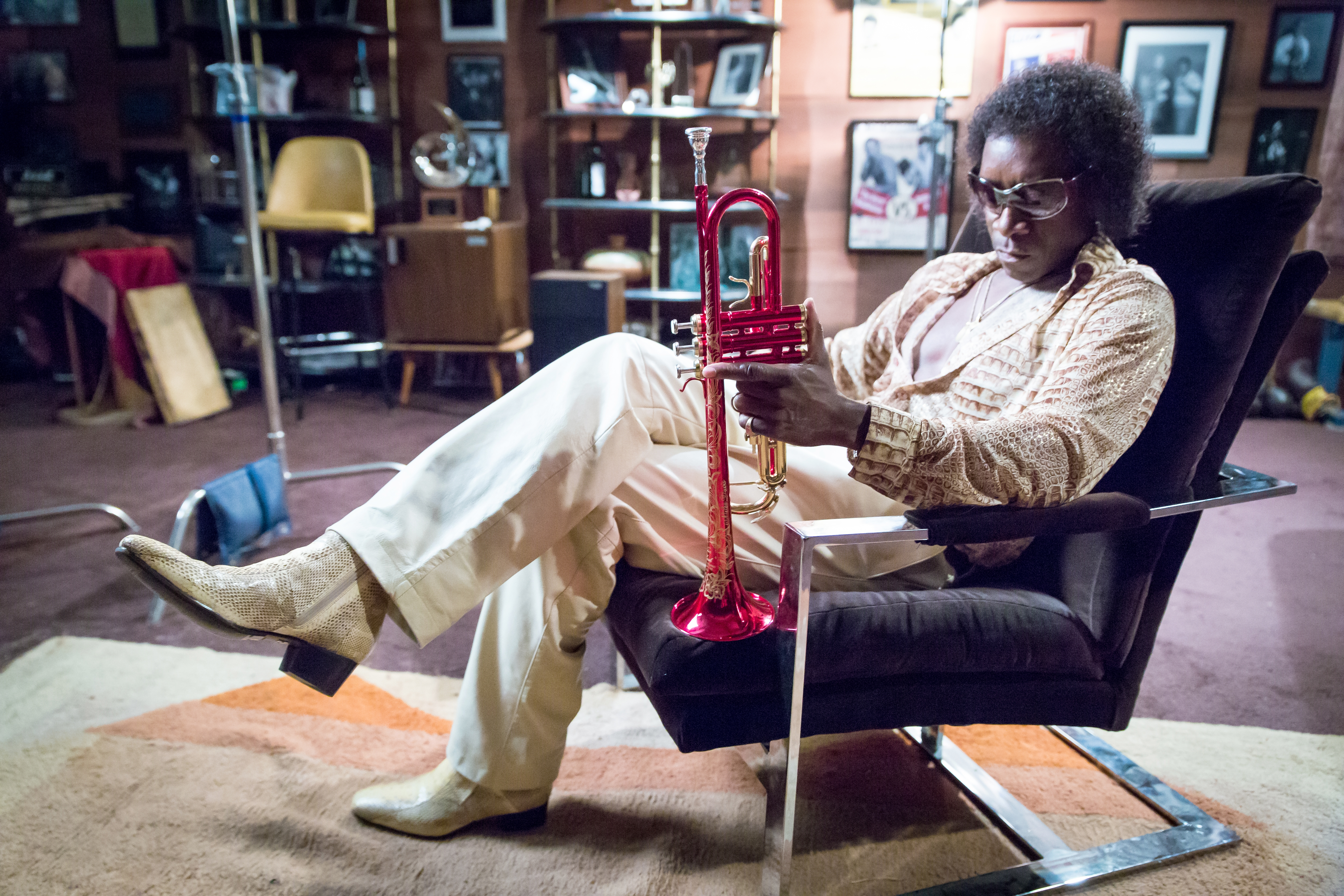 "Don Cheadle is Miles Davis in ""Miles Ahead."""