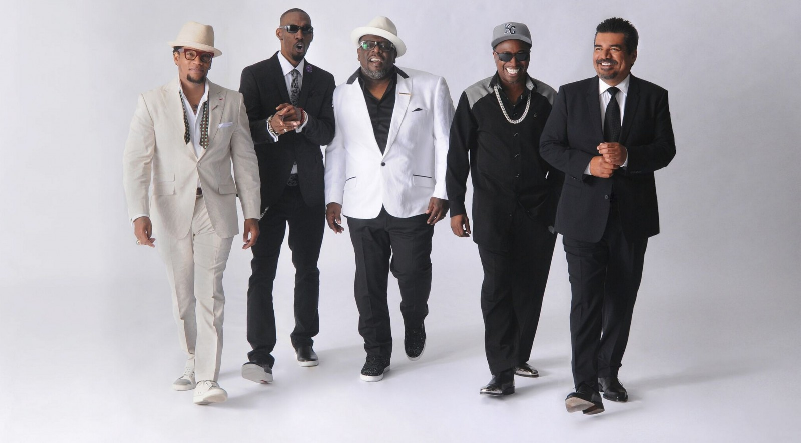 The Comedy Get Down tour features D.L. Hughley, left, Charlie Murphy, Cedric the Entertainer, Eddie Griffin and George Lopez.